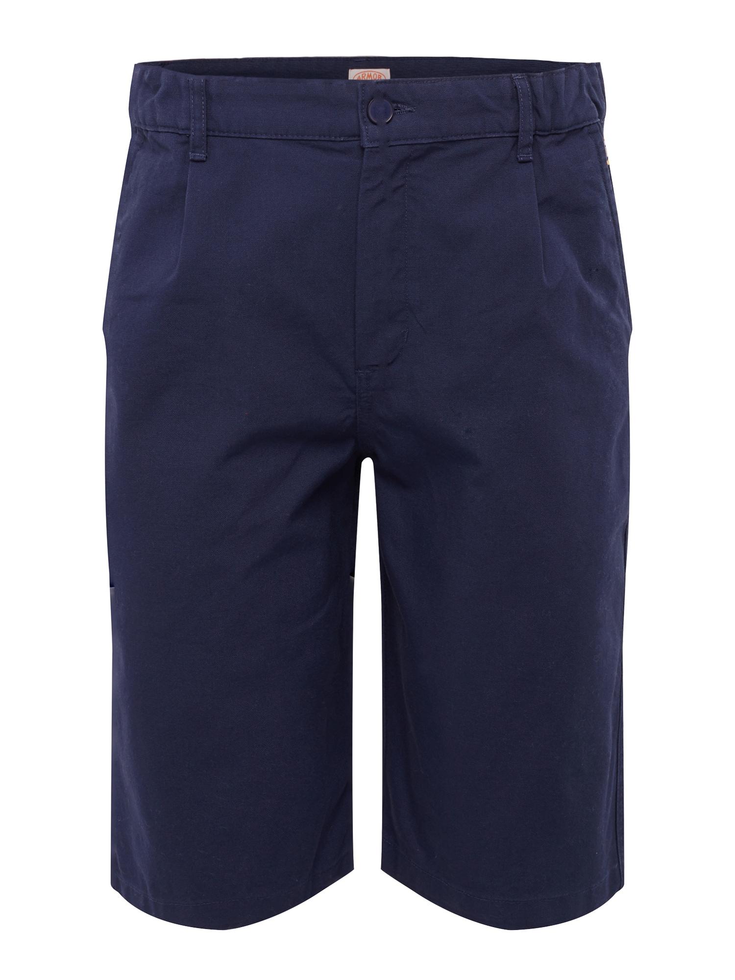 Kalhoty se sklady v pase Bermuda námořnická modř Armor Lux