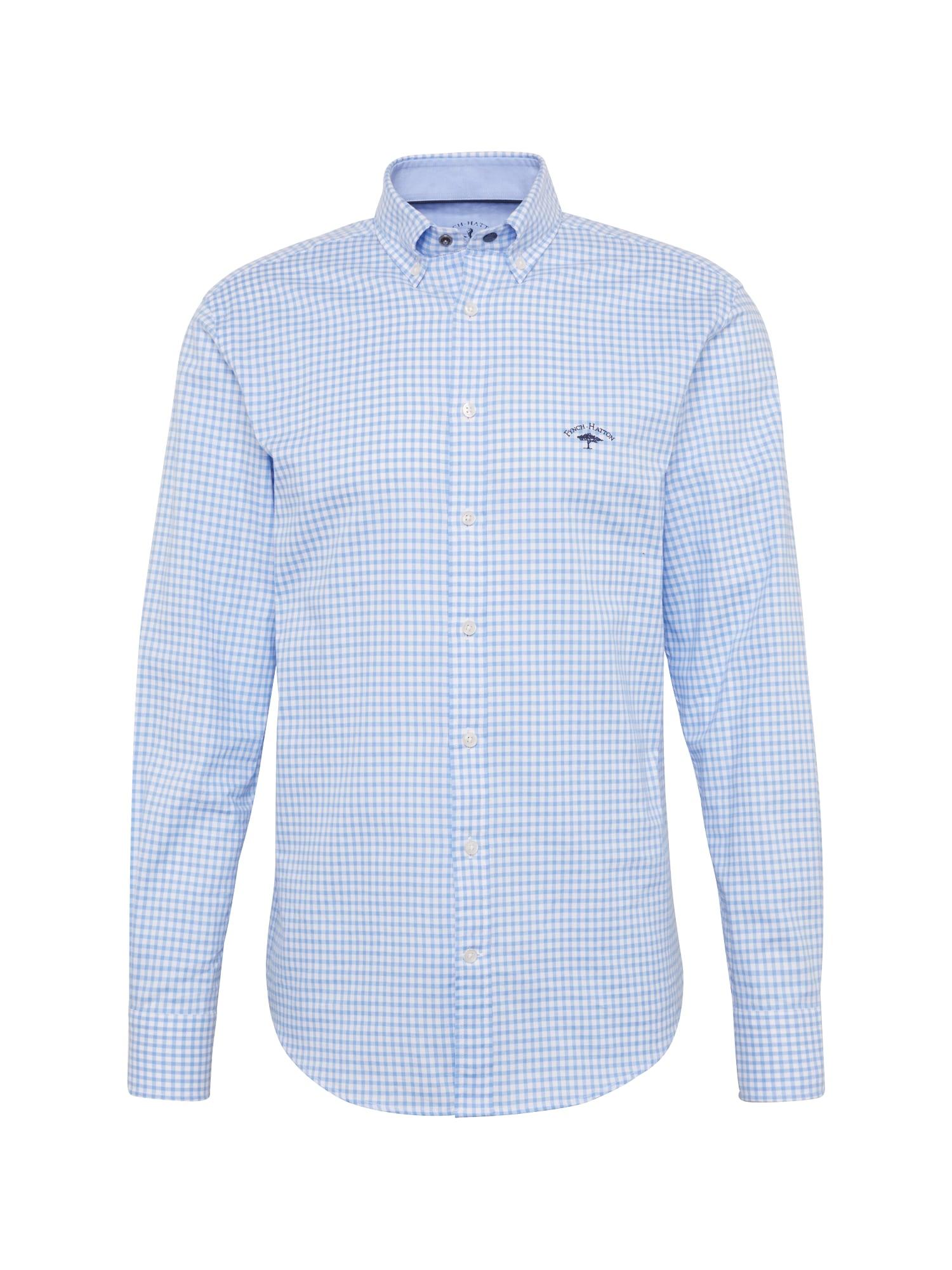 Košile sleeve casual fit světlemodrá bílá FYNCH-HATTON