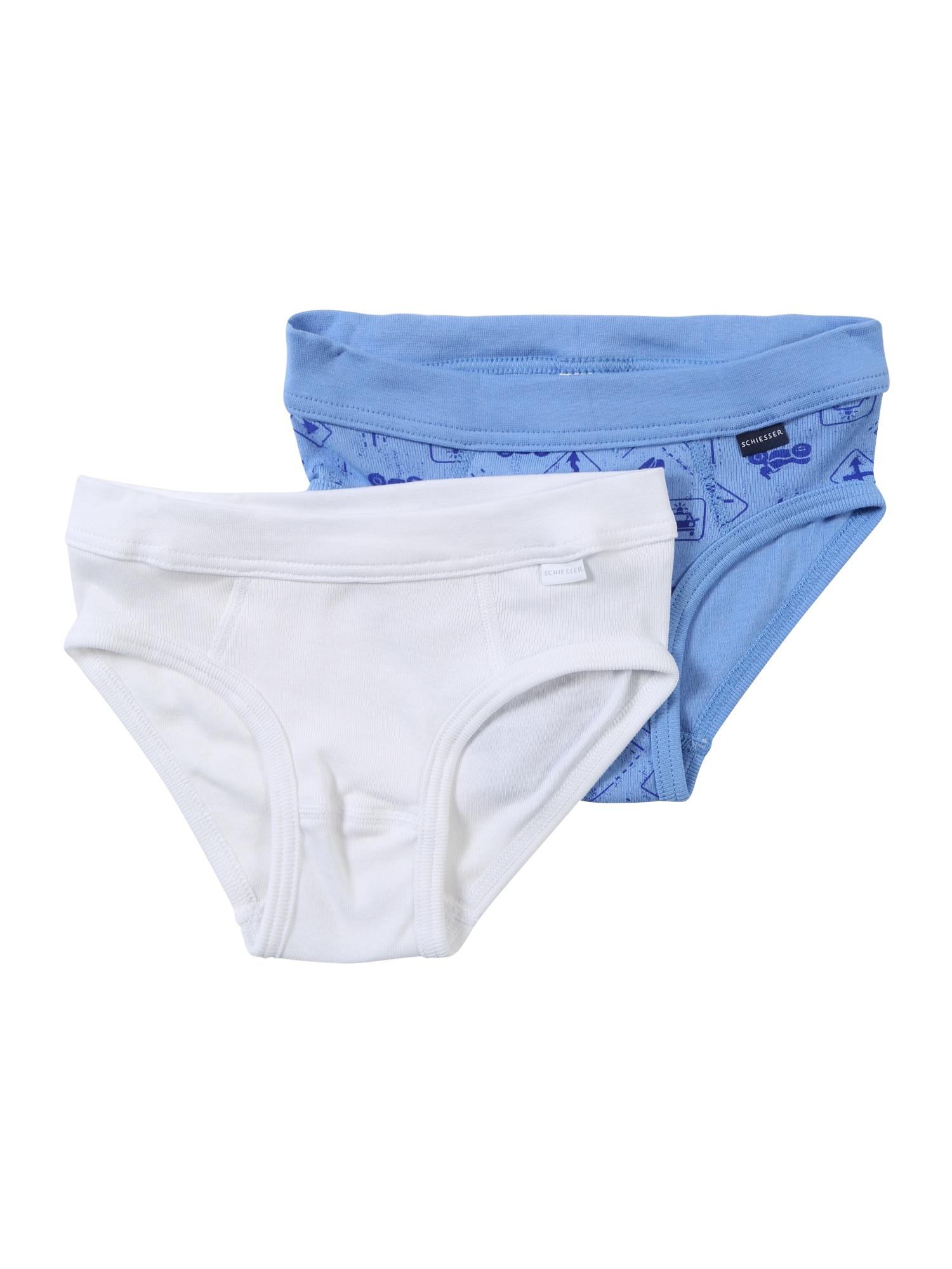 SCHIESSER Spodní prádlo  modrá / bílá