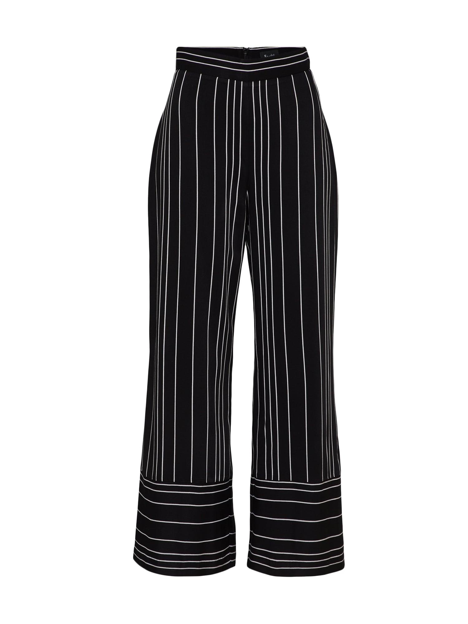 Kalhoty černá bílá Bardot