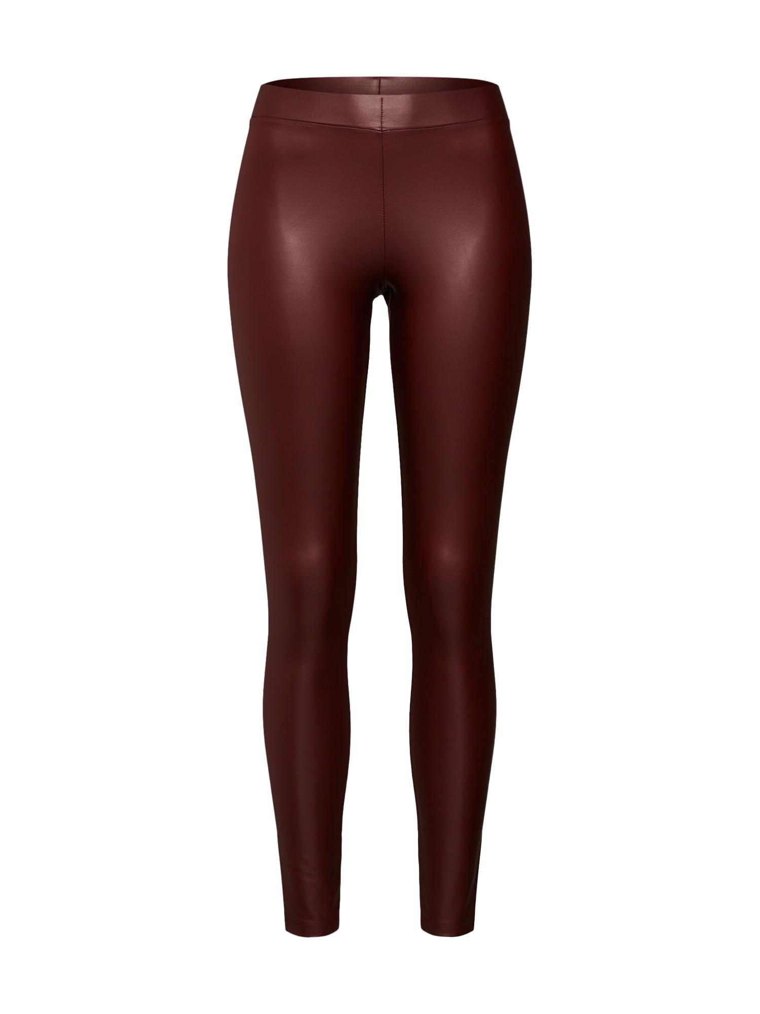 Kalhoty vínově červená PIECES