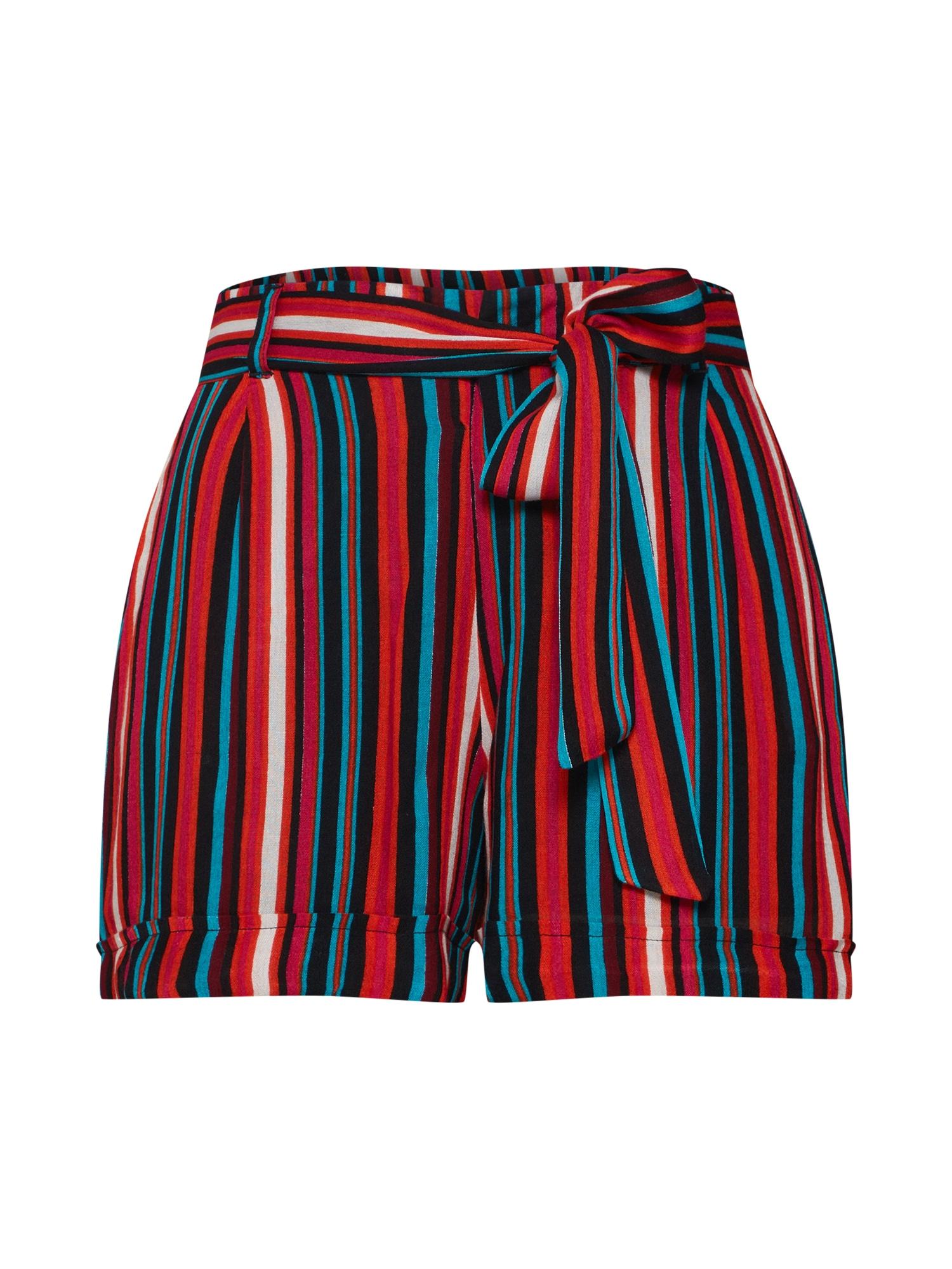 Kalhoty NMMELISSA SHORTS červená černá bílá Noisy May
