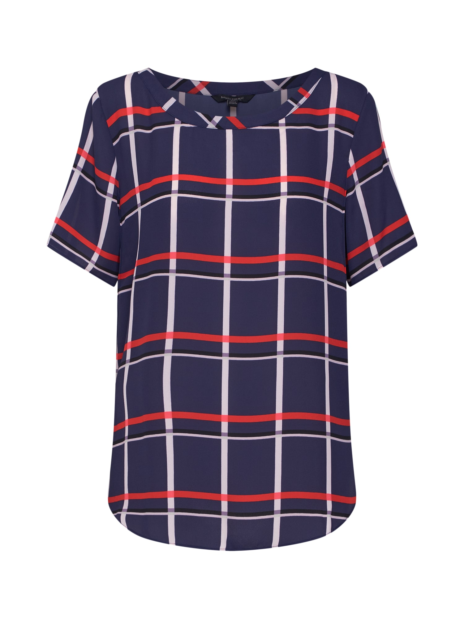 Tričko SS CREW PERFECT TEE AURORA COLORBLOCK námořnická modř světle červená bílá Banana Republic