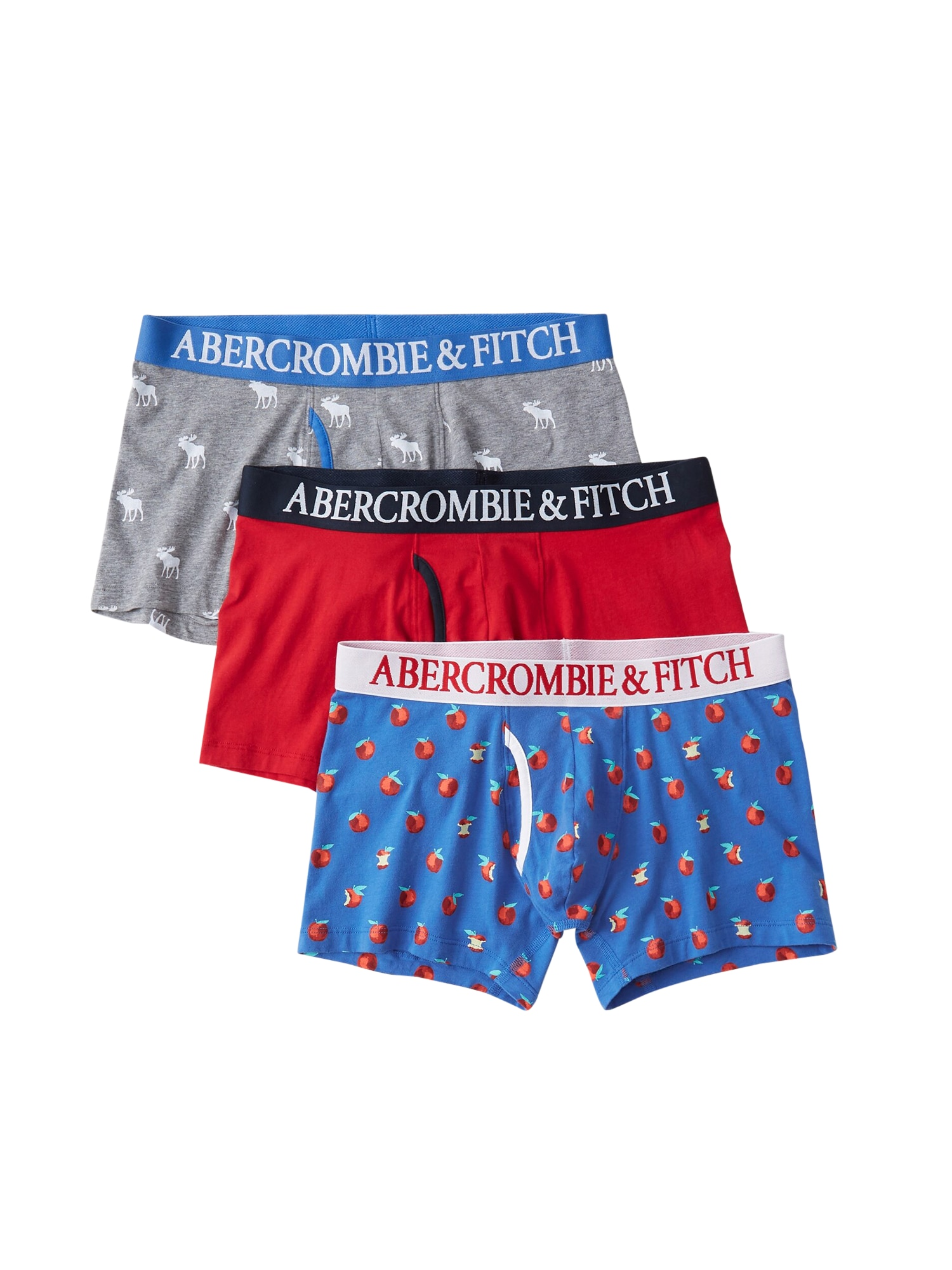 Boxerky BTS19-FALL BB MULTIPACK 1CC mix barev Abercrombie & Fitch
