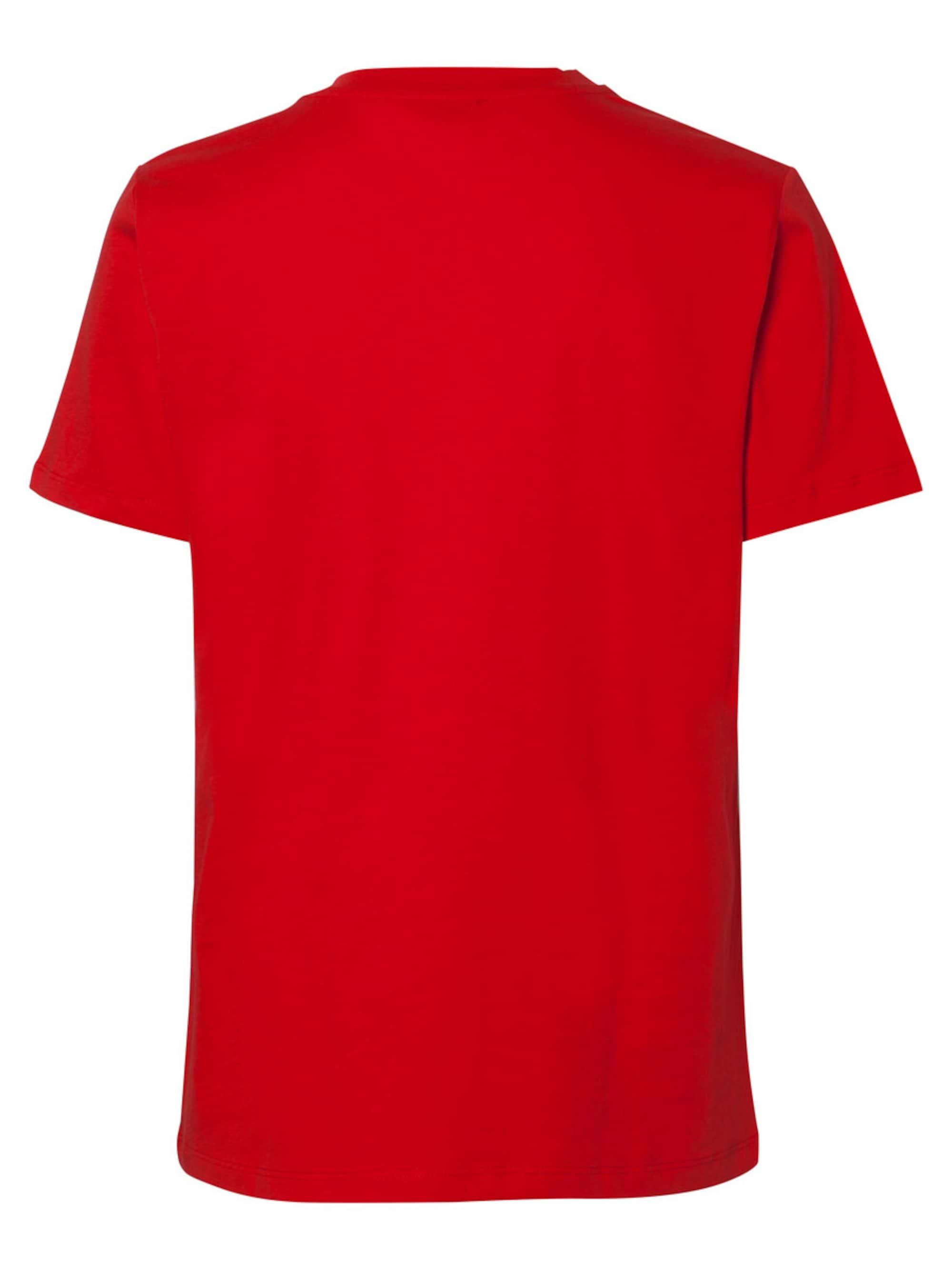 PIECES Koszulka  czerwony / biały