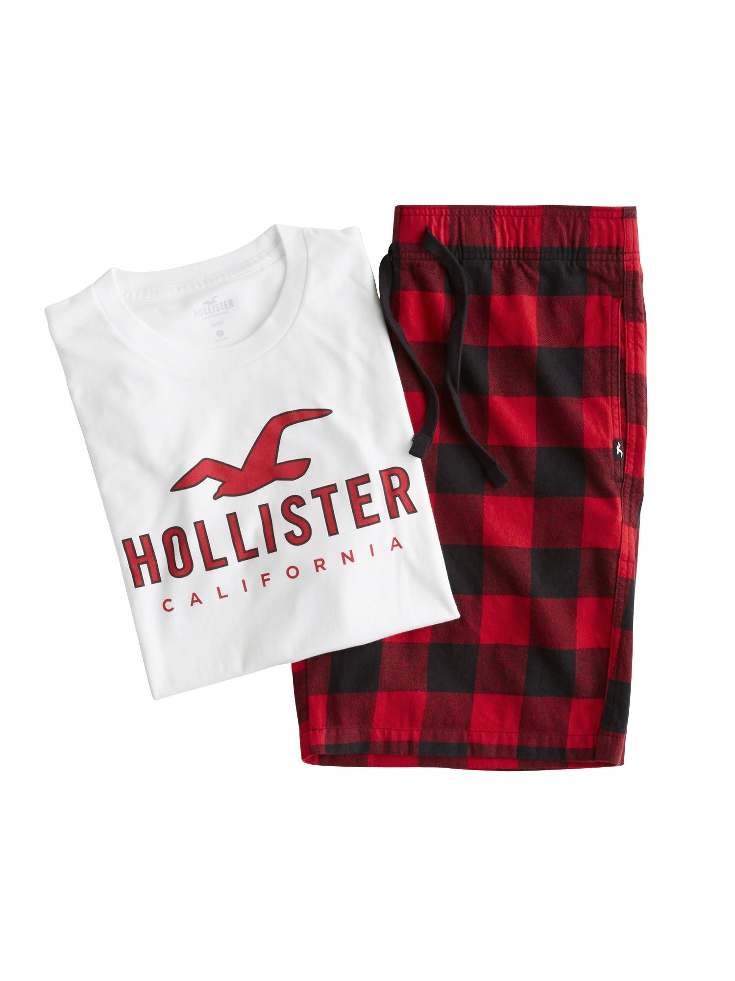 HOLLISTER Pyžamo krátké  červená