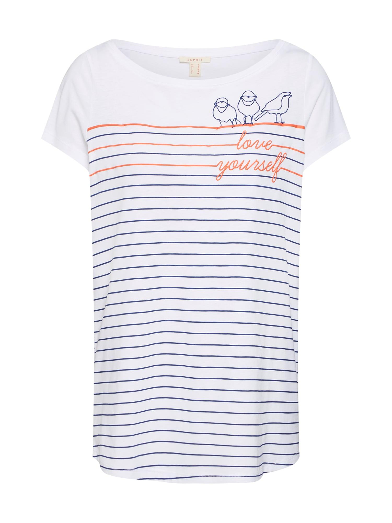 Tričko Anchor oranžová černá bílá ESPRIT