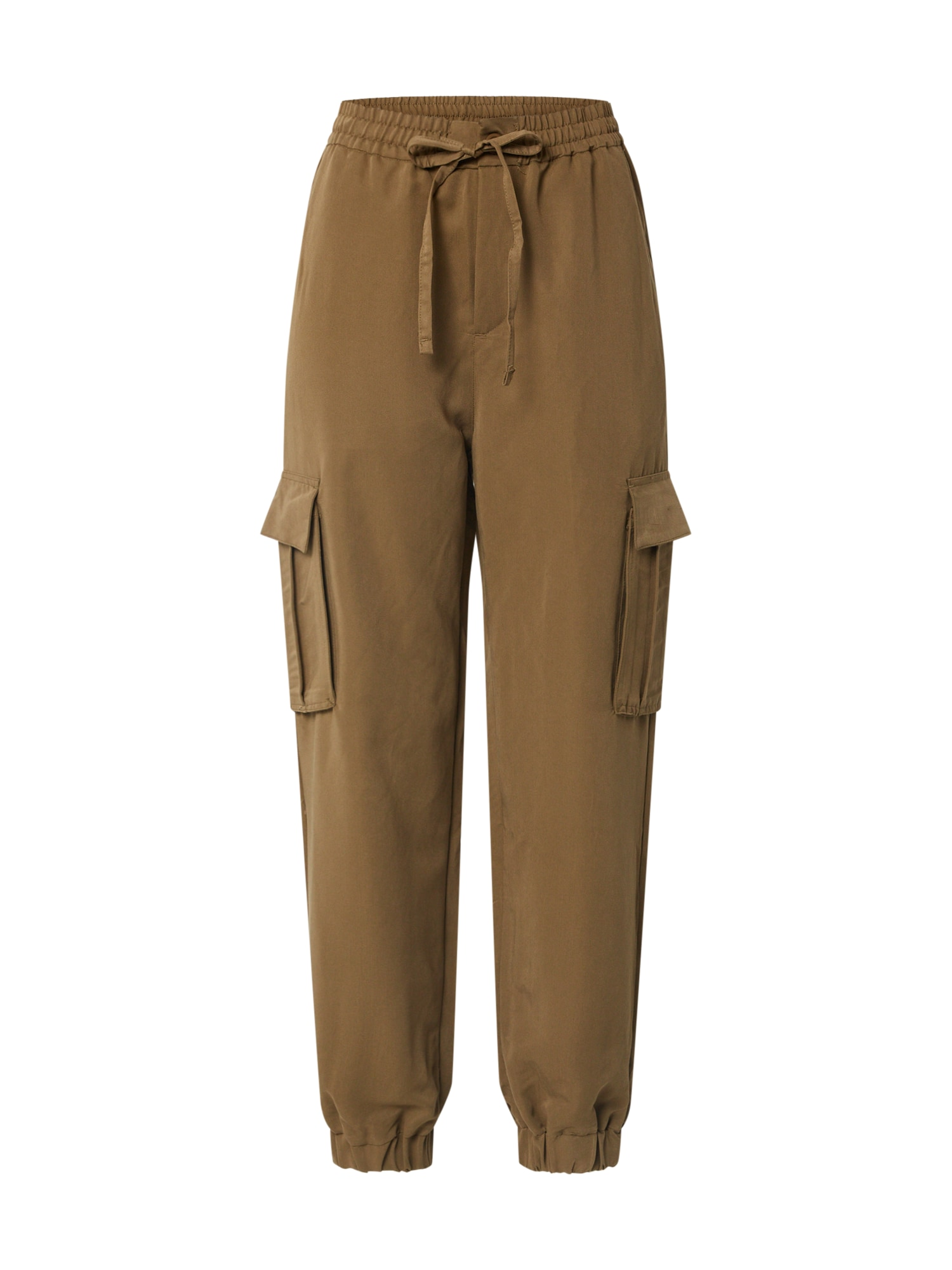 Urban Classics Kapsáče 'Ladies Viscose Twill Cargo Pants'  khaki