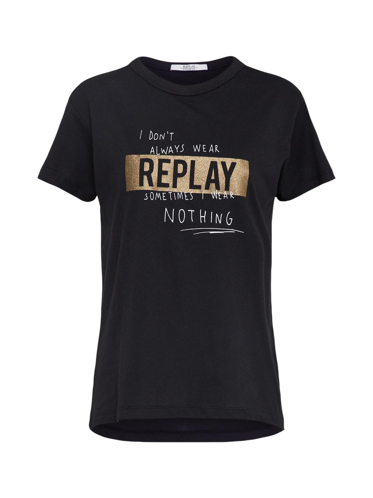 REPLAY Dames Shirt zwart