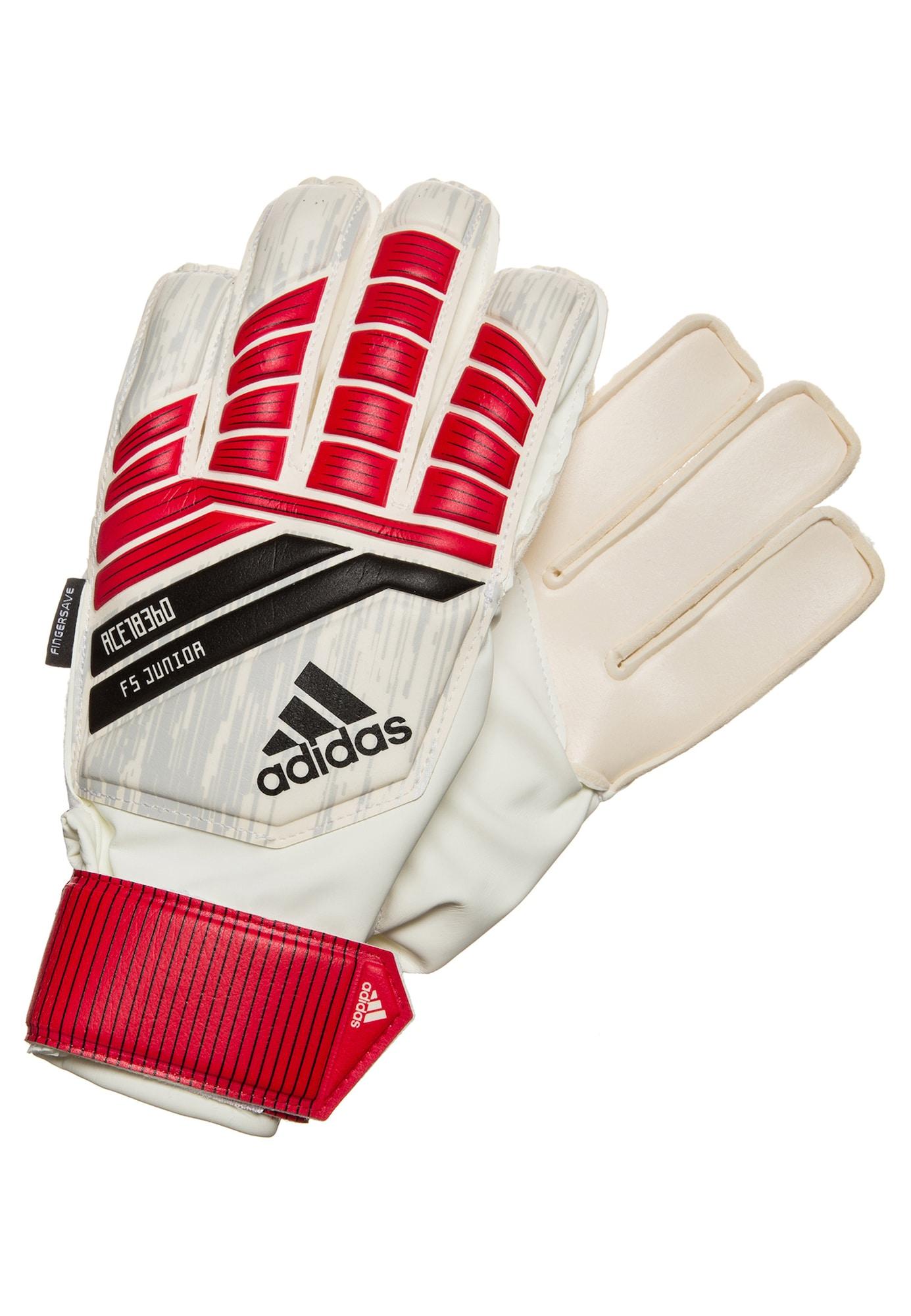ADIDAS PERFORMANCE, Meisjes Sporthandschoenen 'Predator Fingersave', rood / wit