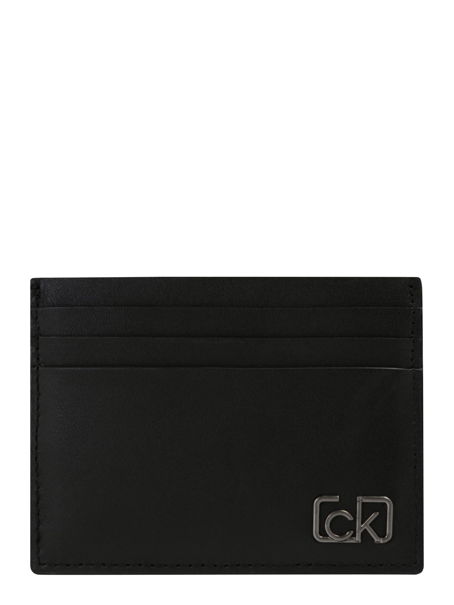 Calvin Klein Peněženka 'SIGNATURE CARDHOLDER'  černá