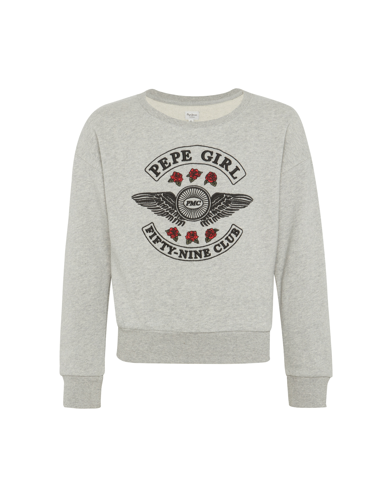 Pepe Jeans Meisjes Sweatshirt SONGA TEEN grijs gemêleerd