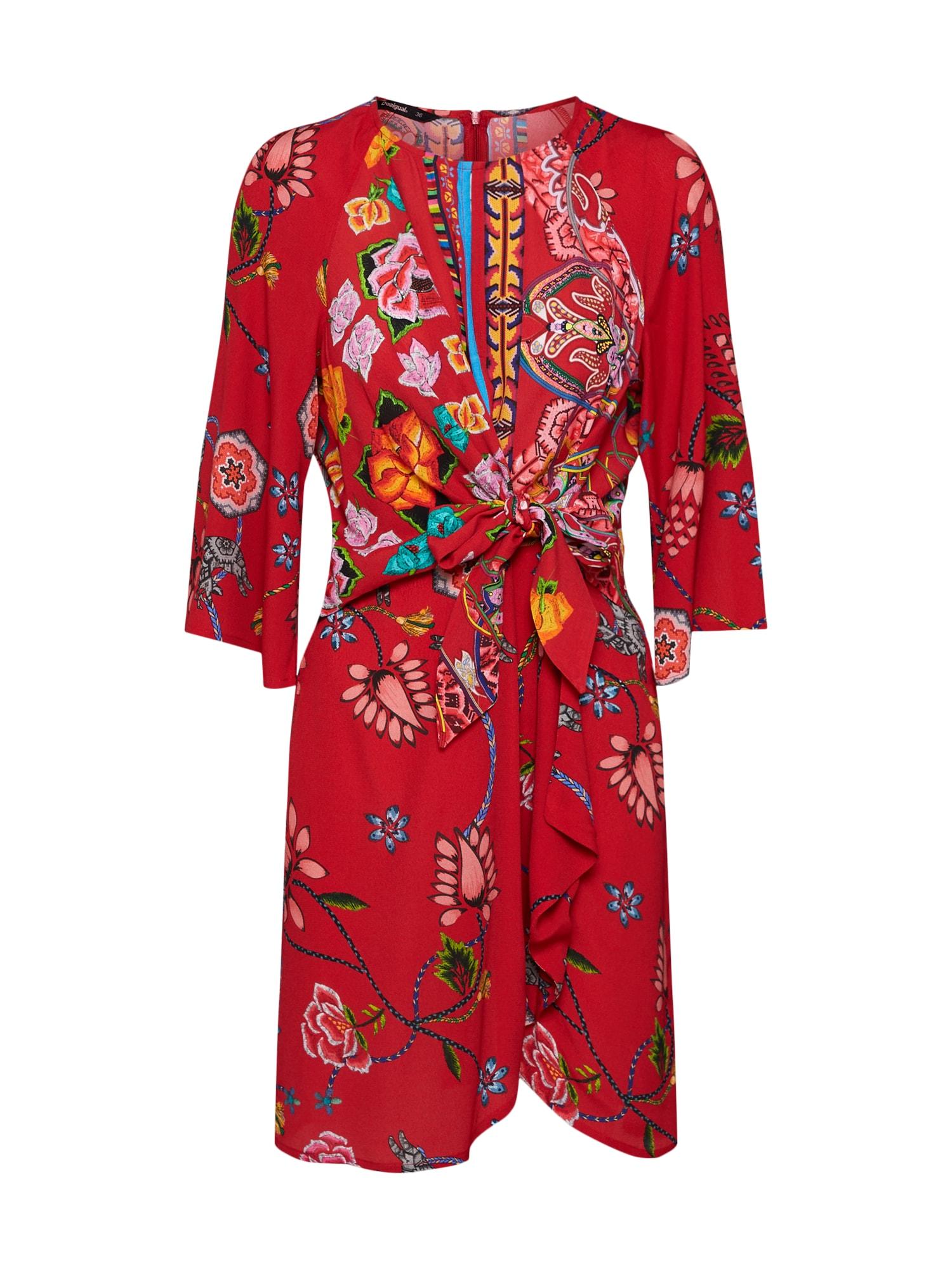 Šaty VEST_GLEN červená Desigual