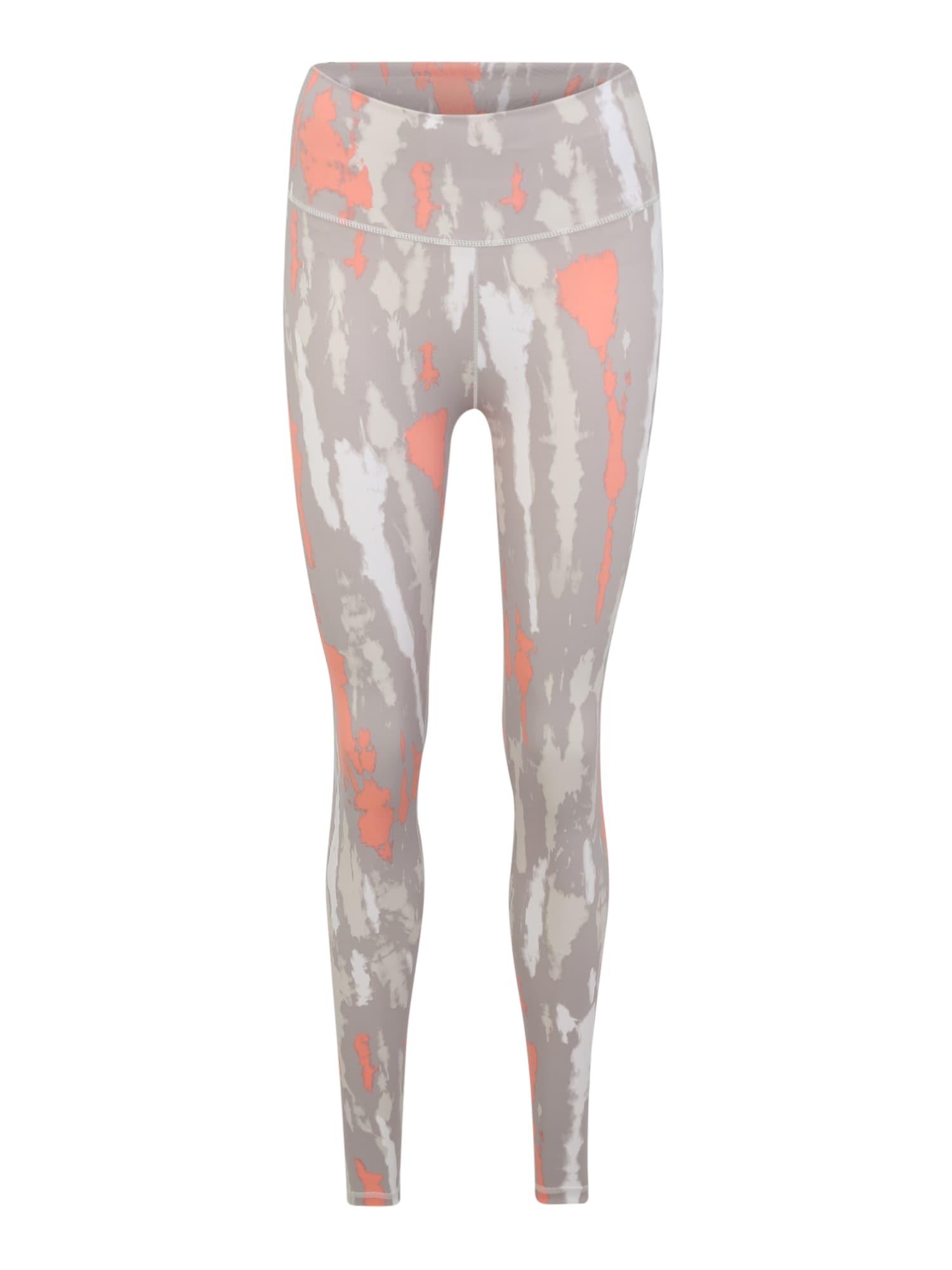 ADIDAS PERFORMANCE Sportovní kalhoty  šedá / korálová