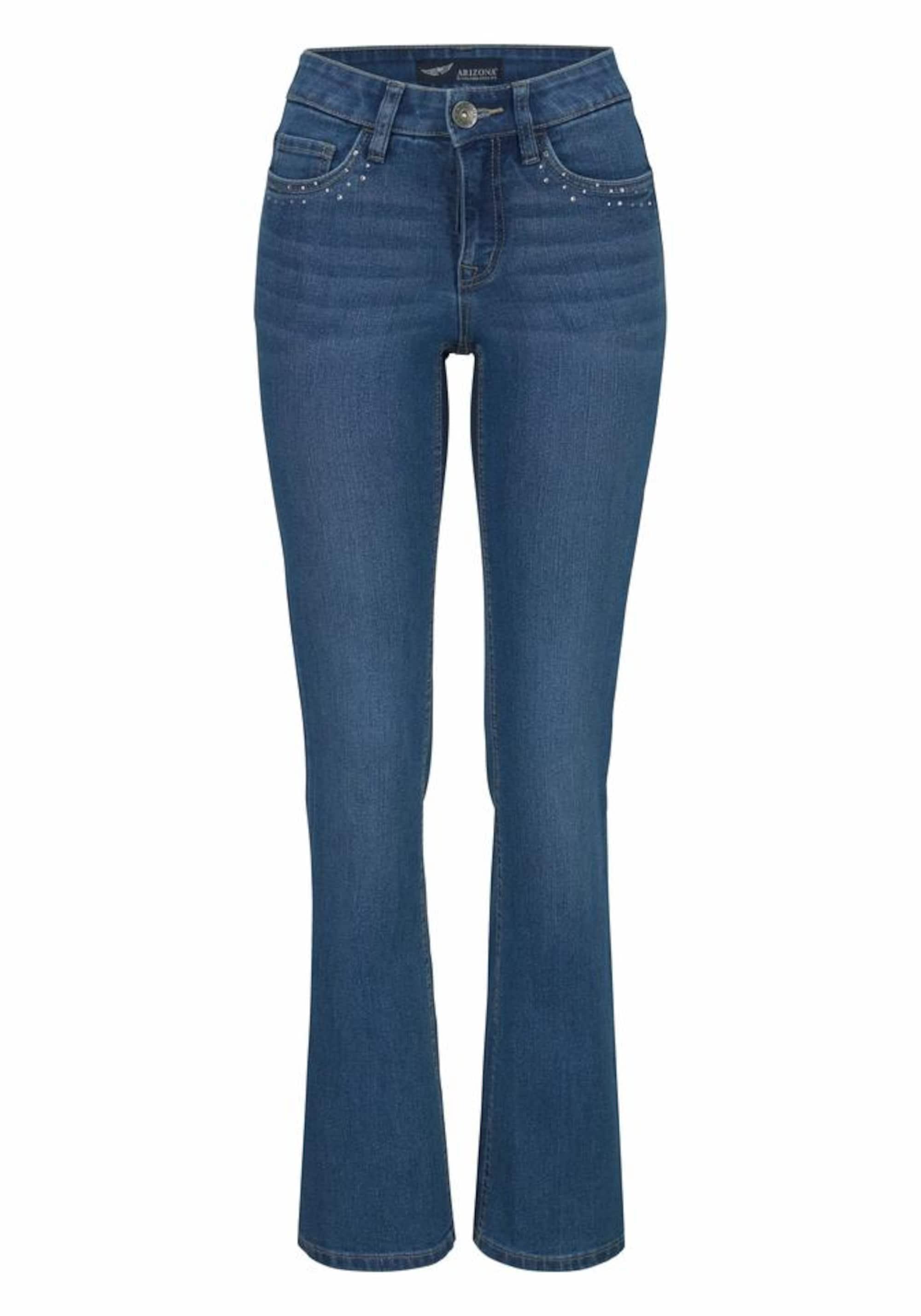 Image of Bootcut-Jeans mit Glitzerstein-Applikation