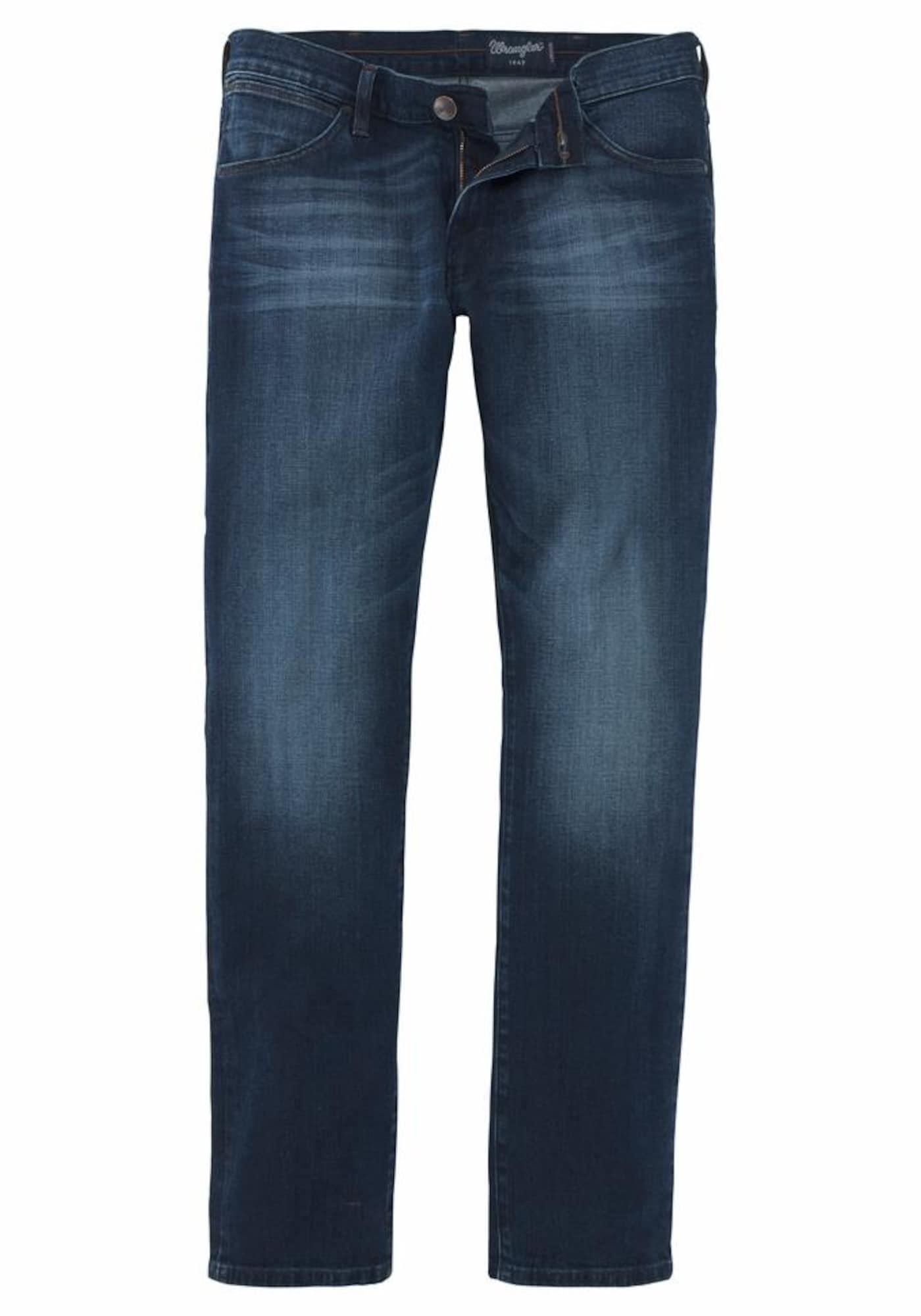 WRANGLER Heren Jeans Larston donkerblauw