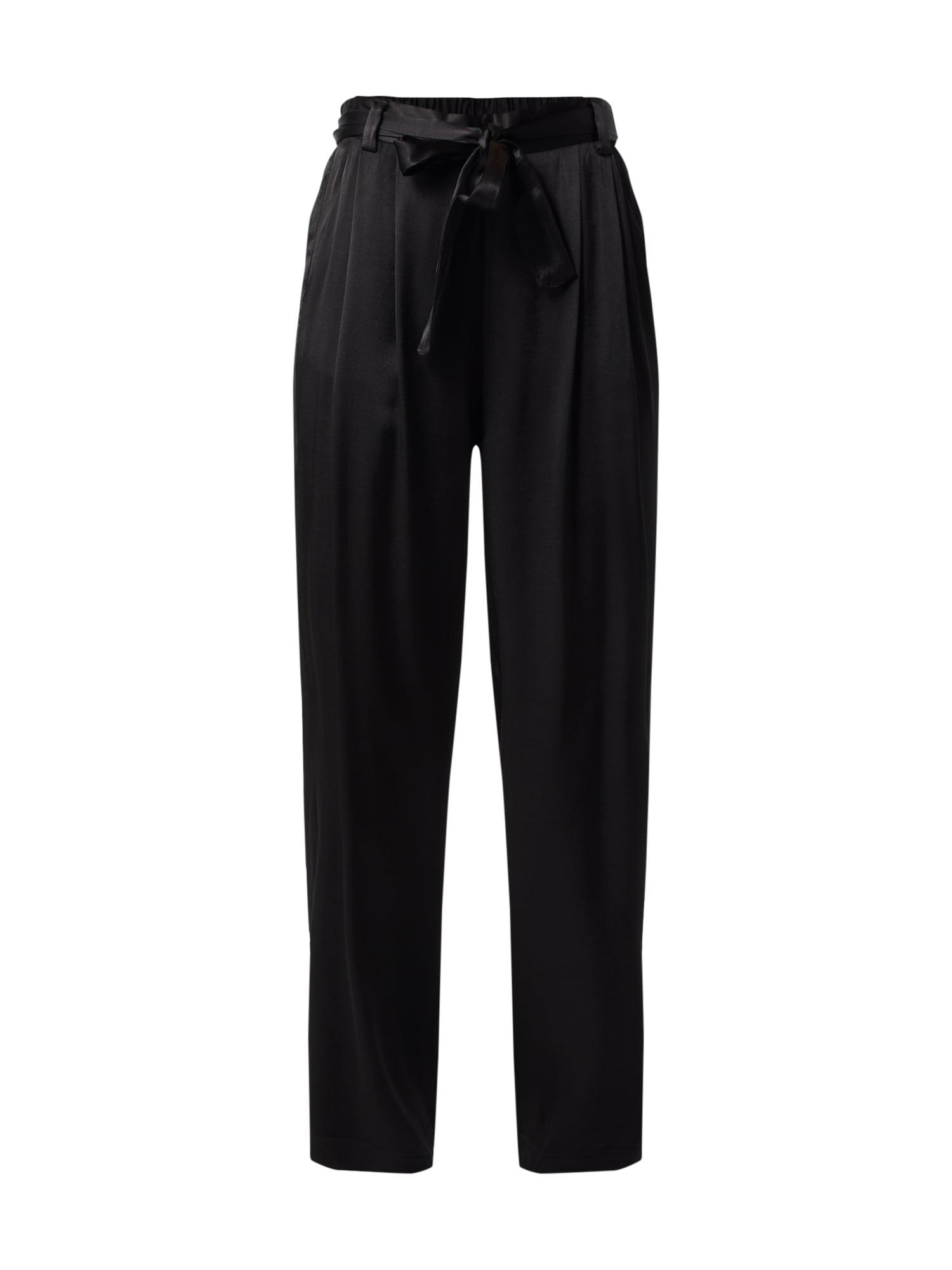 Kalhoty se sklady v pase Stina Pants černá Sparkz