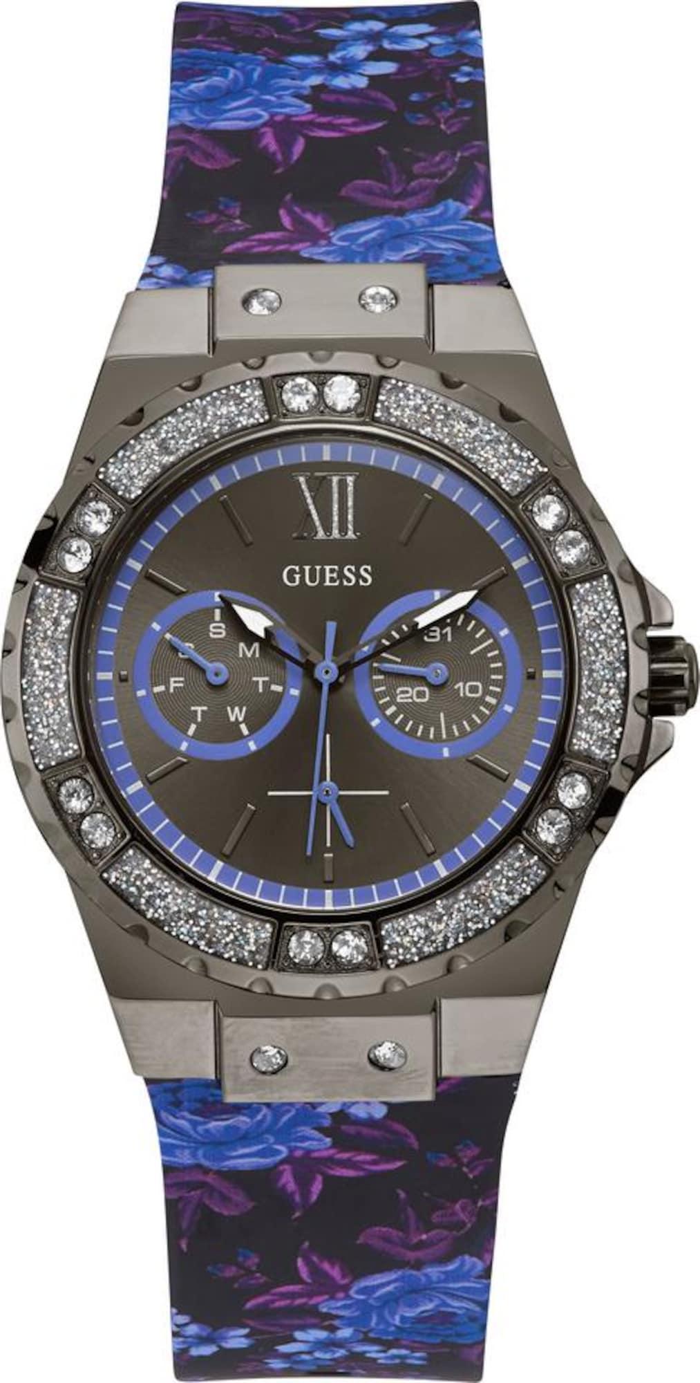 Multifunktionsuhr 'Limelight, W1053L8' | Uhren | Blau - Dunkelgrau - Lila - Schwarz | Guess