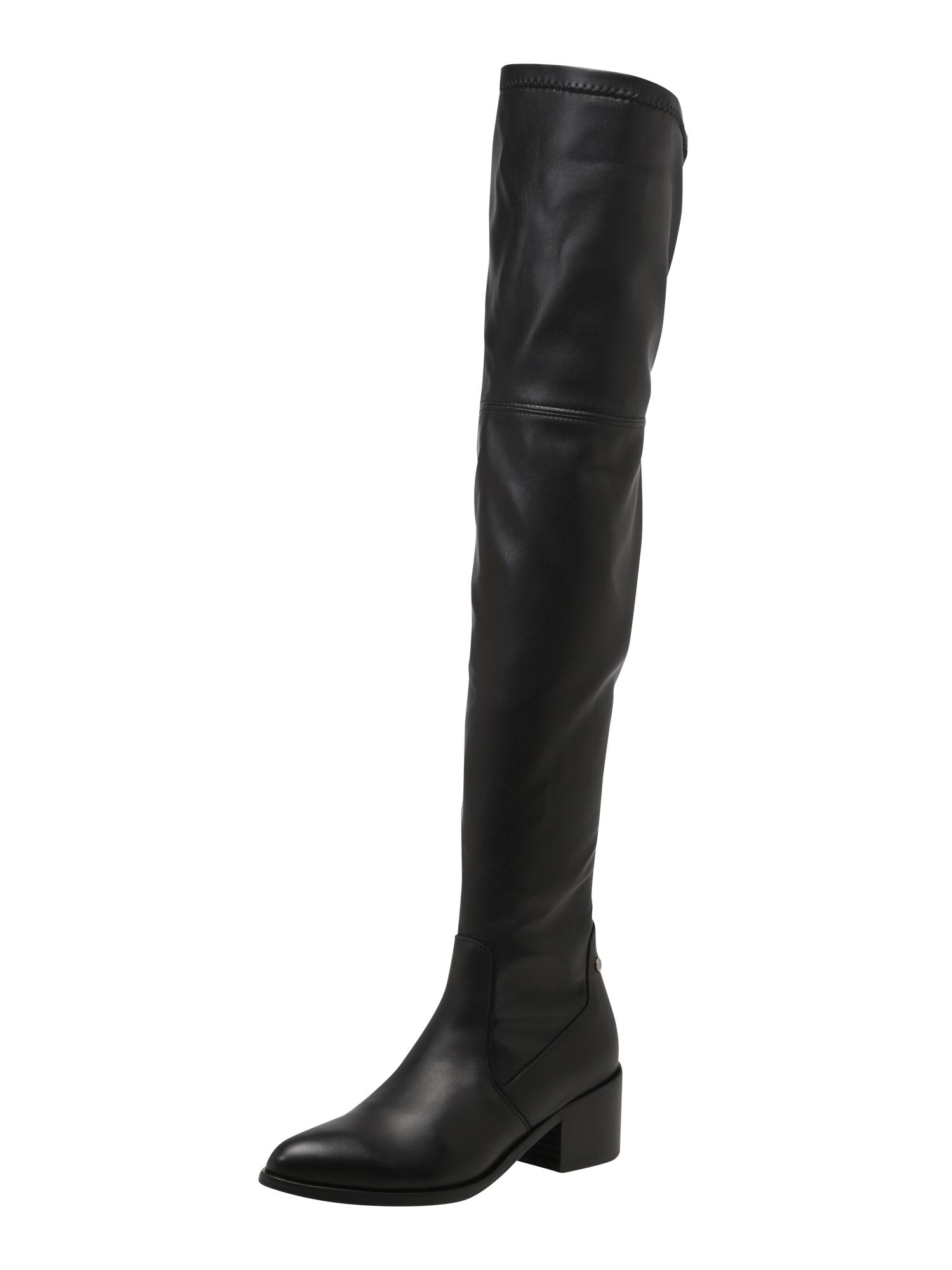 TOMMY HILFIGER, Dames Overknee laarzen, zwart