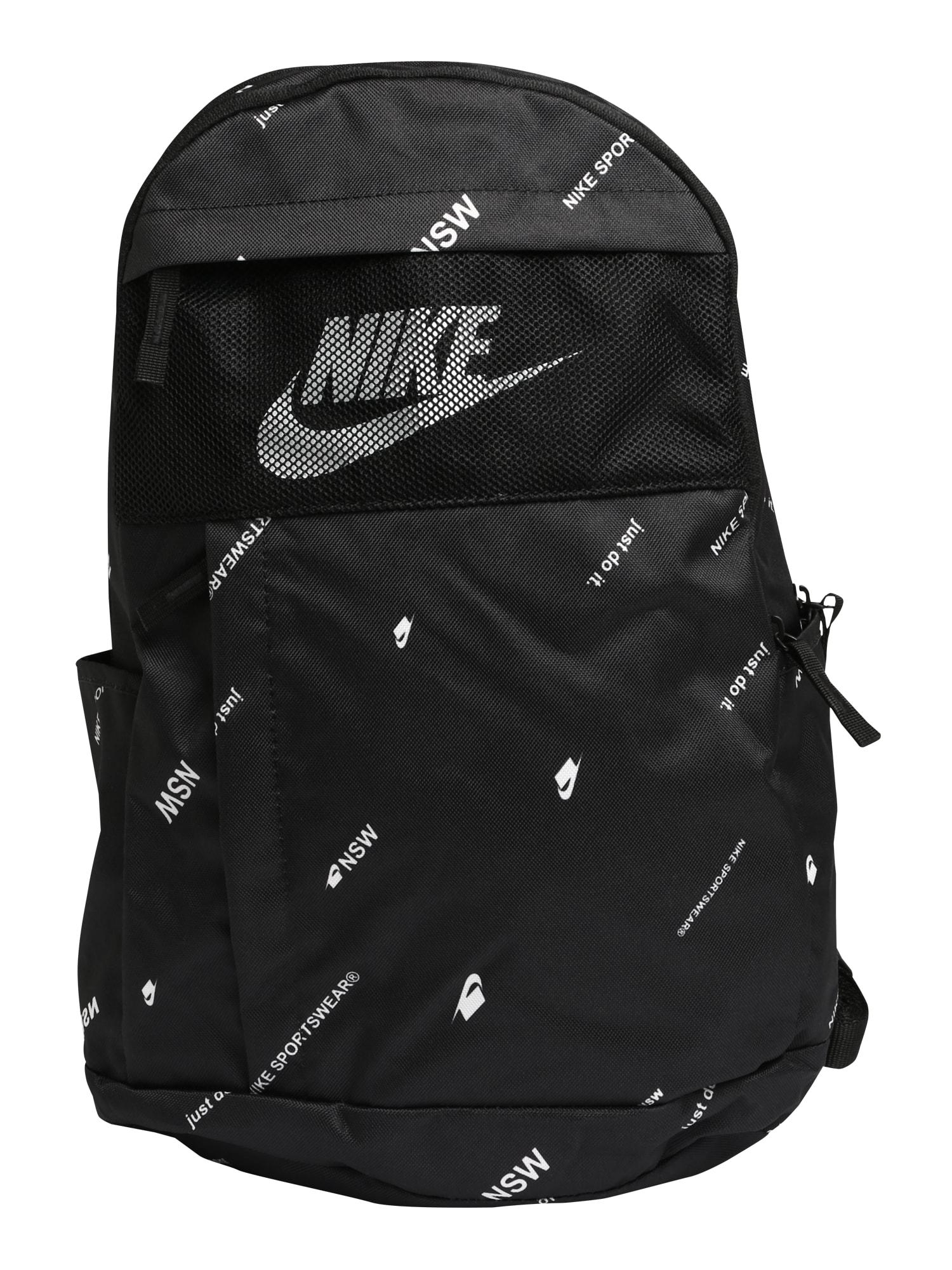 Nike Sportswear Batoh '2.0 AOP'  černá / bílá