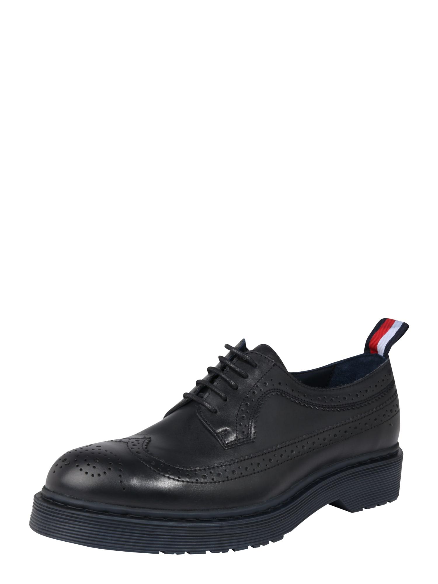 Šněrovací boty námořnická modř TOMMY HILFIGER