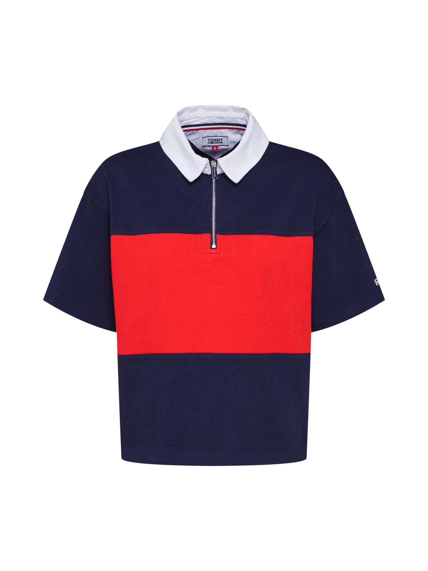 Tričko námořnická modř červená bílá Tommy Jeans