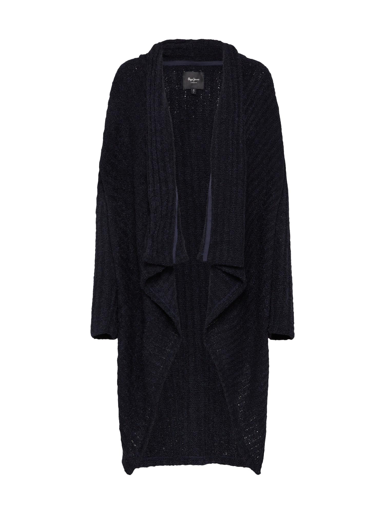 Pepe Jeans Dames Oversized vest FLAVIA zwart