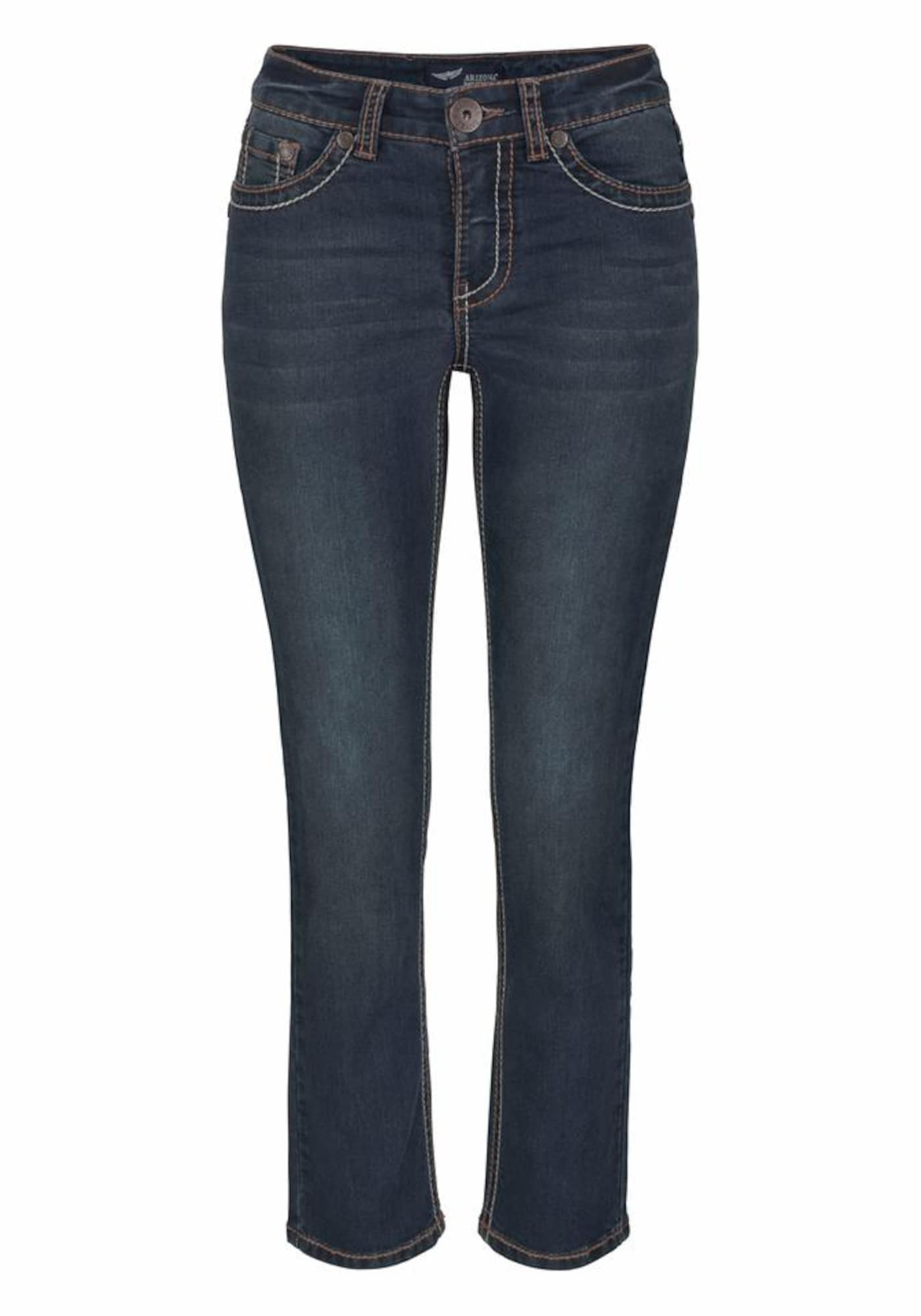 7/8-Jeans »mit Kontrastnähten« | Bekleidung > Jeans > 7/8-Jeans | Dunkelblau | ARIZONA