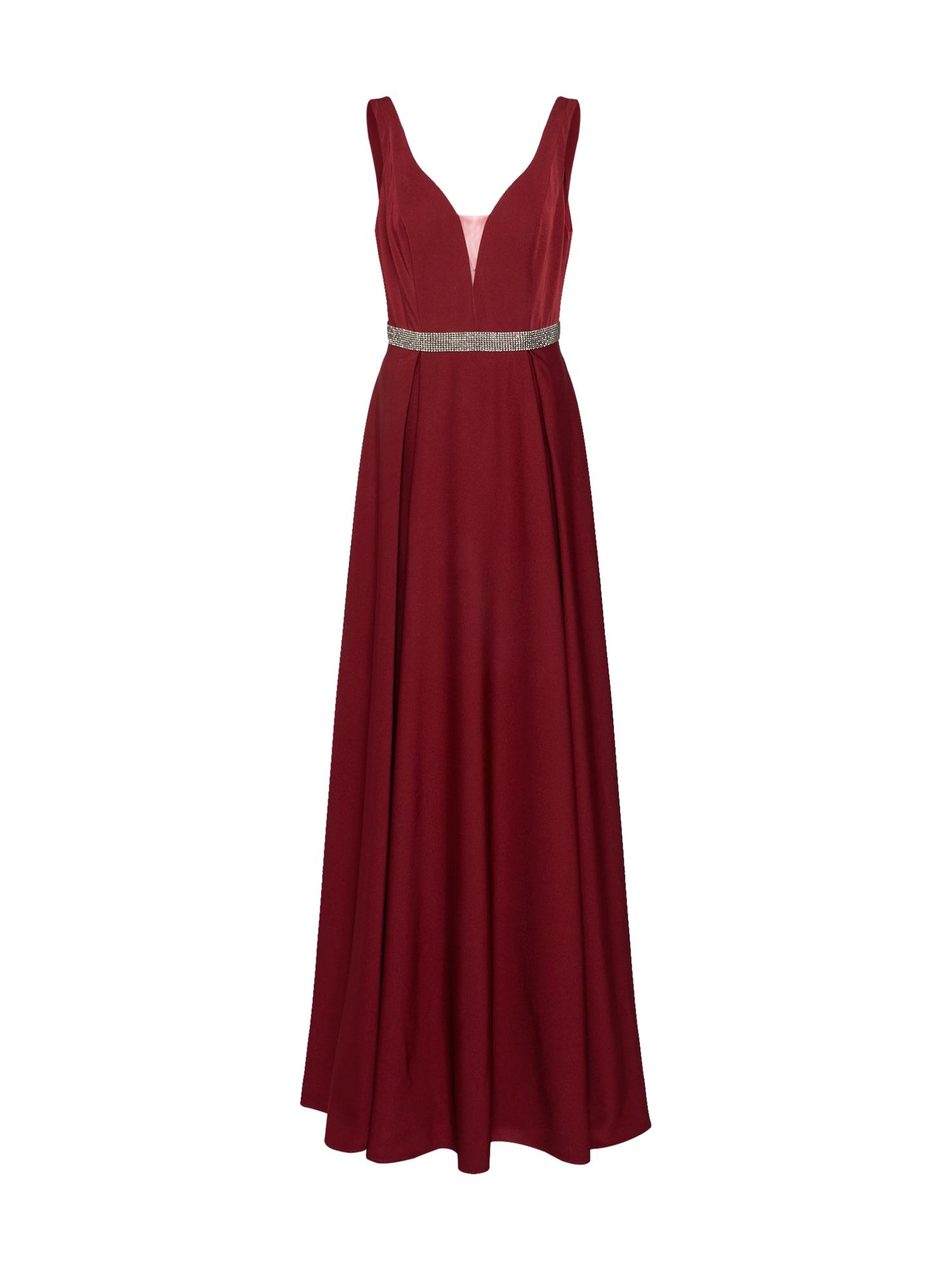 Mascara Večerné šaty 'BELTED GOWN'  vínovo červená