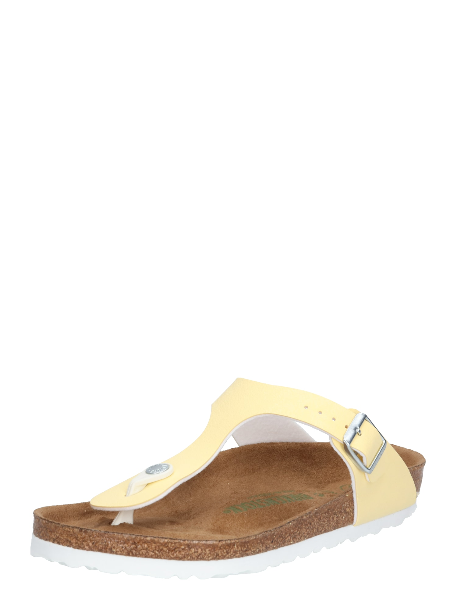 Pantofle Gizeh BF Brushed Vanilla VEG2 žlutá BIRKENSTOCK
