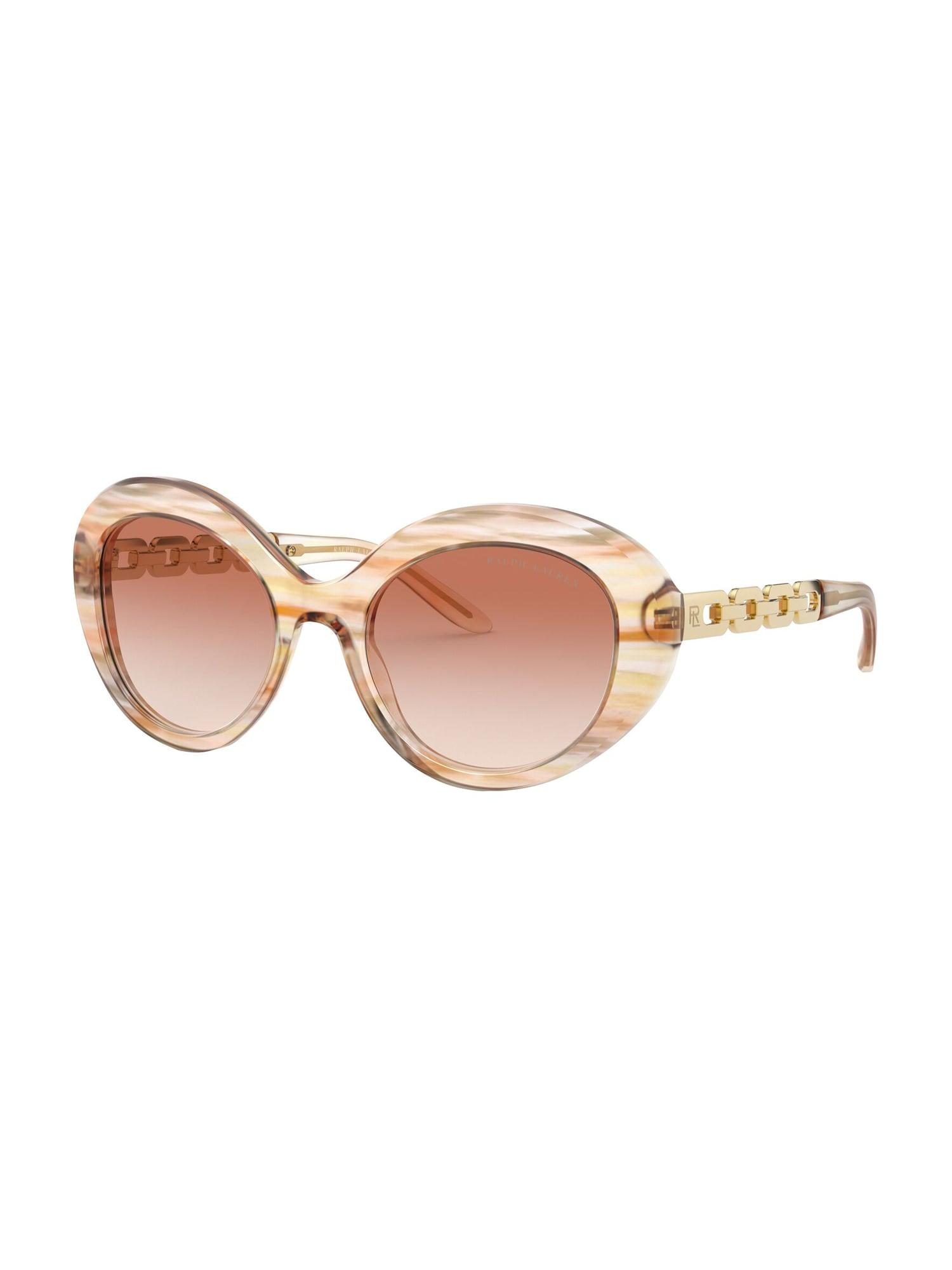RALPH LAUREN Sluneční brýle  hnědá / růžová