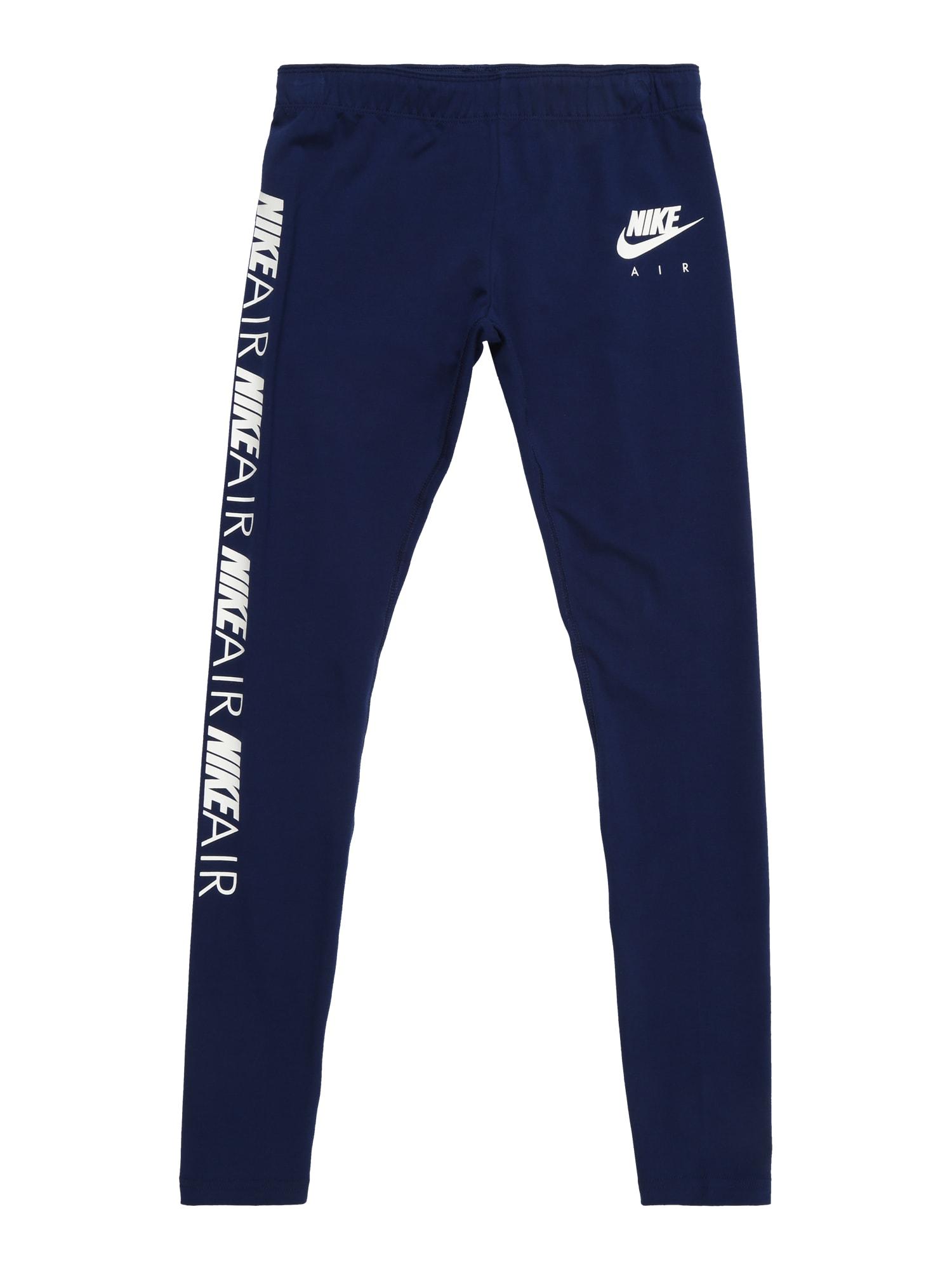 Legíny tmavě modrá bílá Nike Sportswear