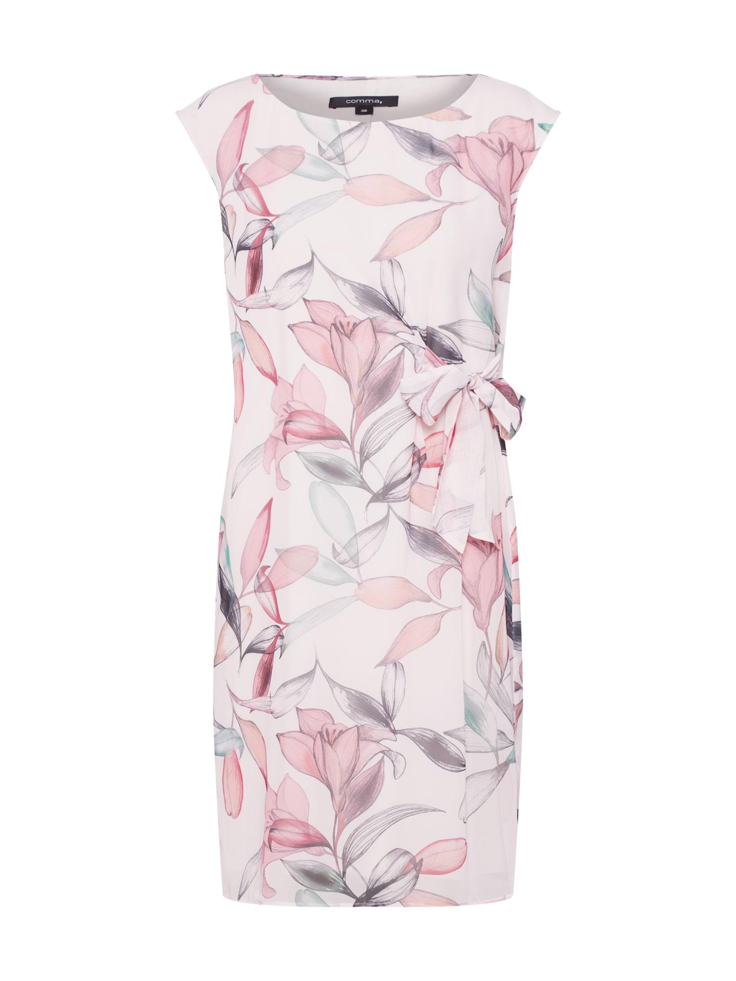 Šaty mix barev růžová COMMA