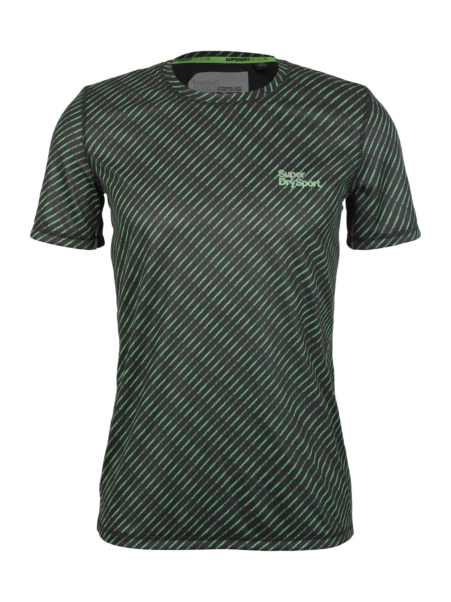 Funkční tričko ACTIVE AOP TEE tmavě zelená černá Superdry