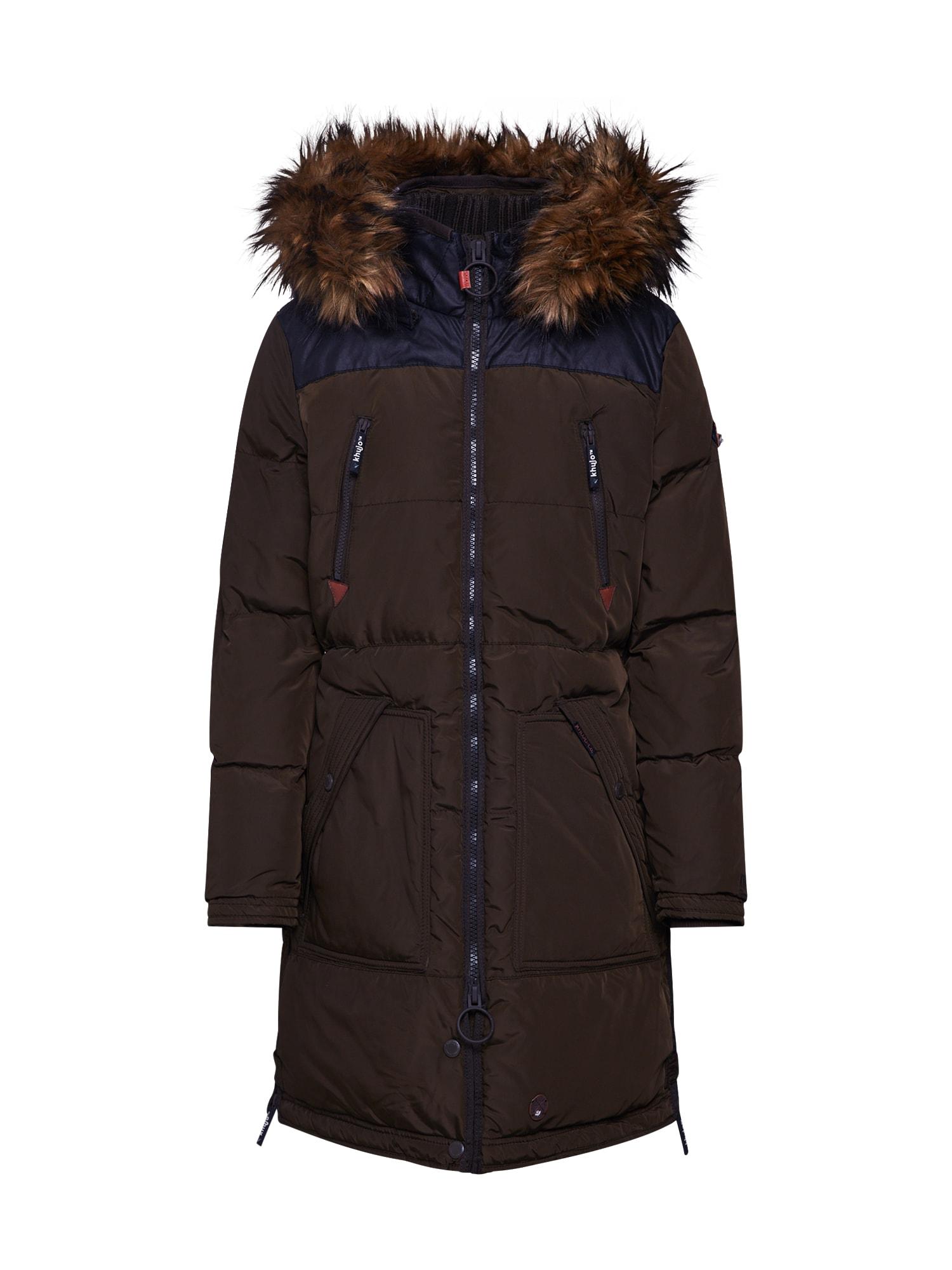 Zimní kabát WAIDA olivová Khujo