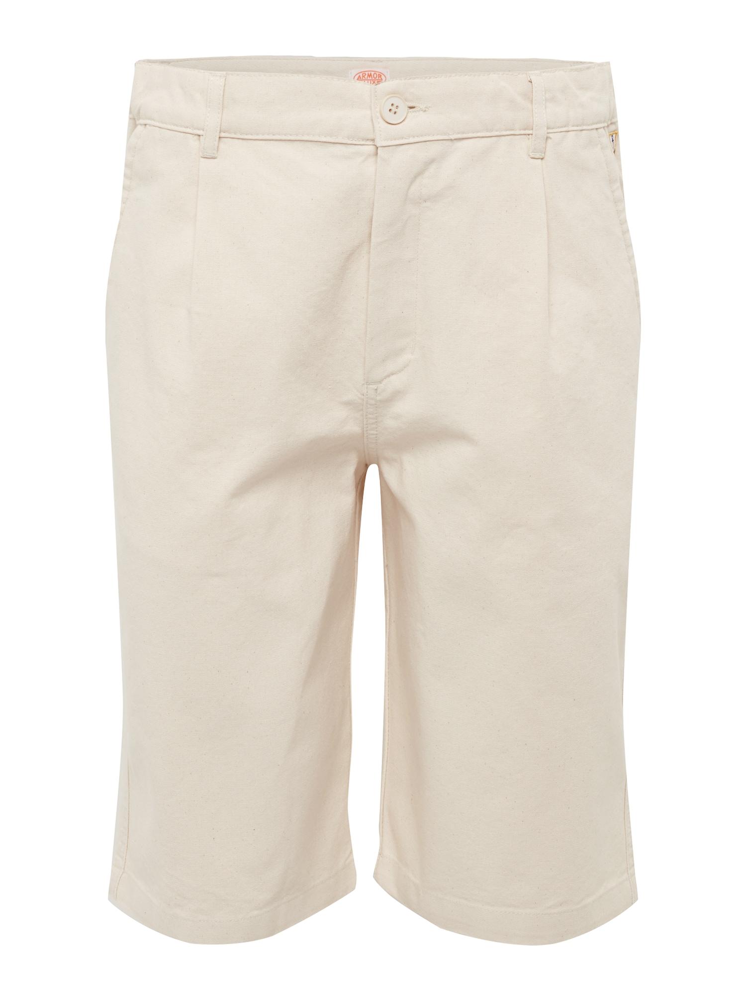 Kalhoty se sklady v pase Bermuda béžová Armor Lux