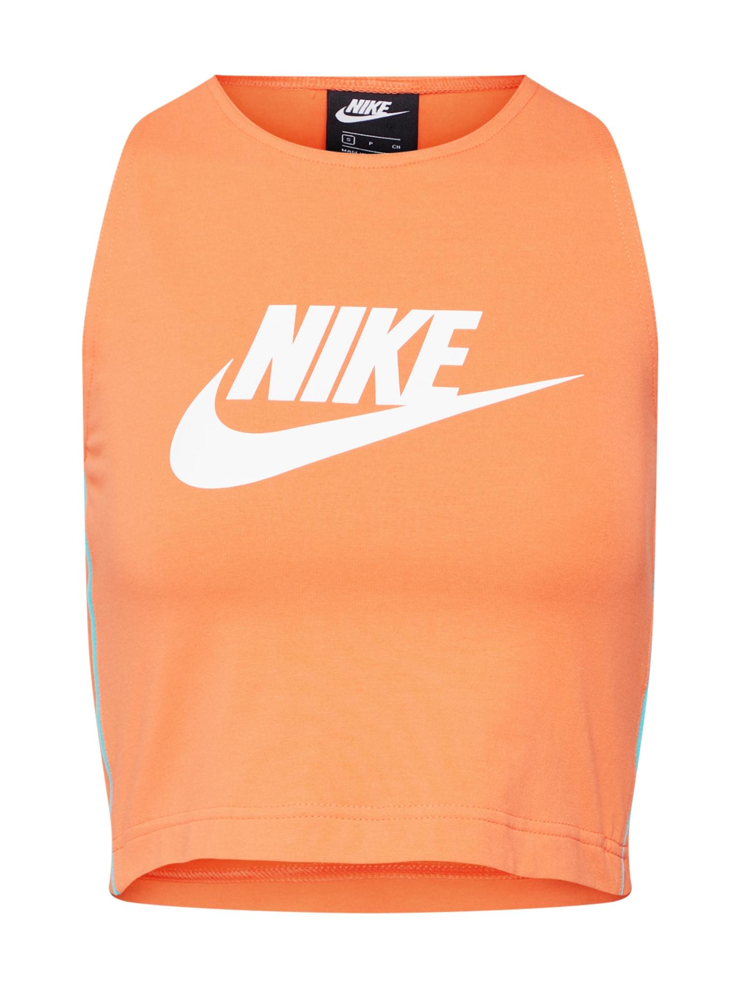 Top tyrkysová oranžově červená Nike Sportswear