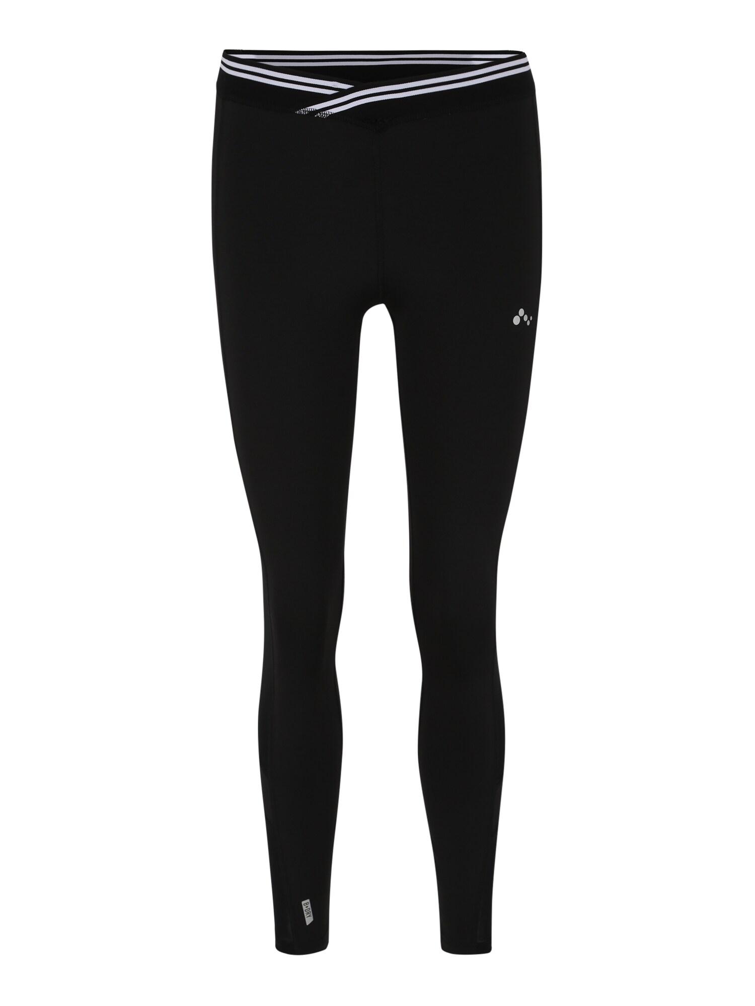 Sport-Leggings 'Mila' | Sportbekleidung > Sporthosen > Sportleggings | Schwarz - Weiß | ONLY PLAY