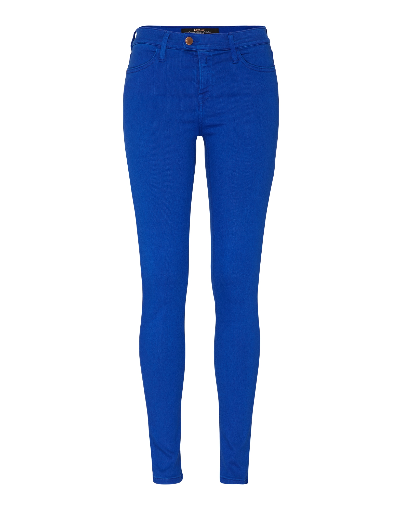 REPLAY Dames Jeans Touch blauw