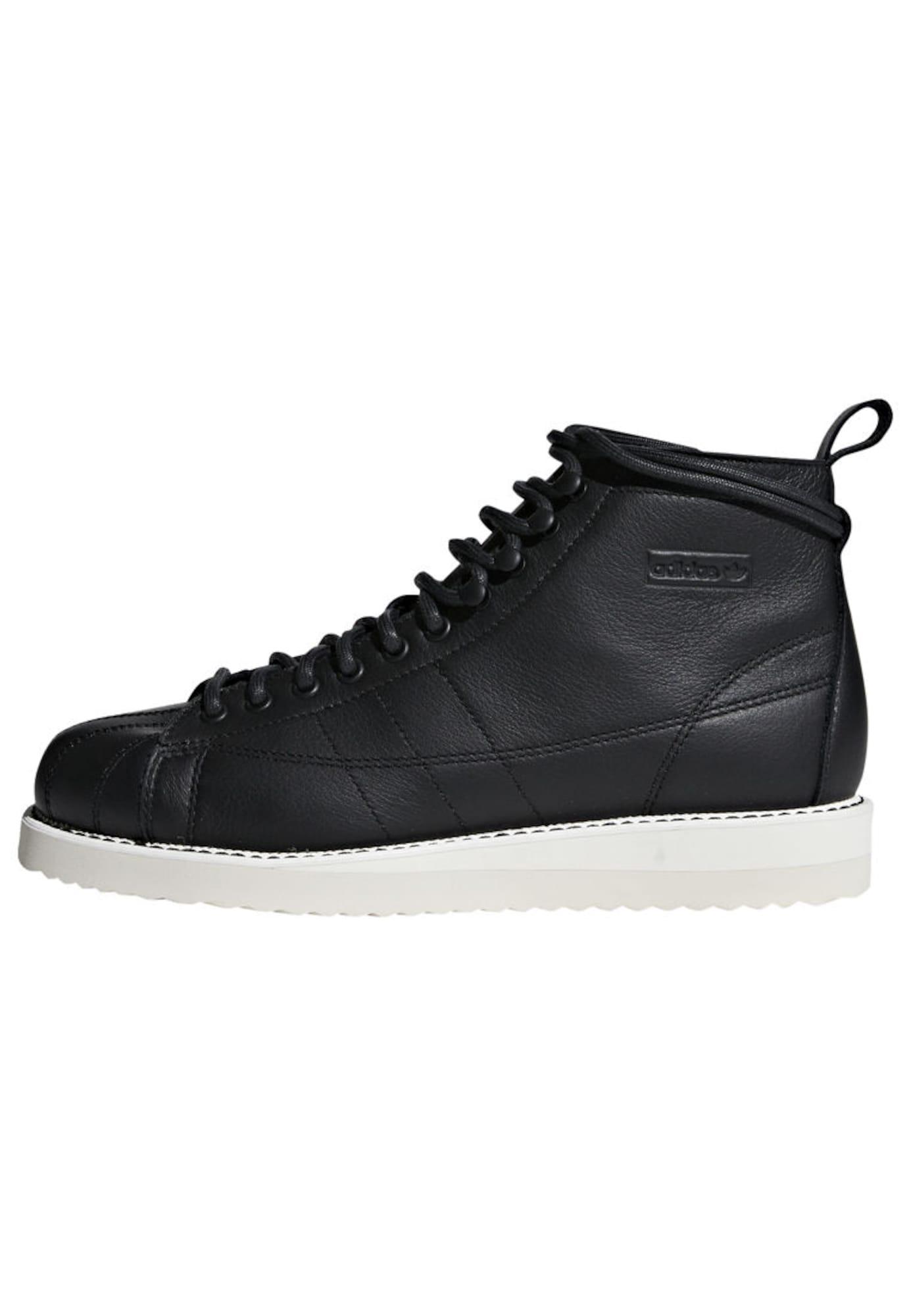 ADIDAS ORIGINALS, Dames Sneakers hoog 'Superstar Boot W', zwart / wit