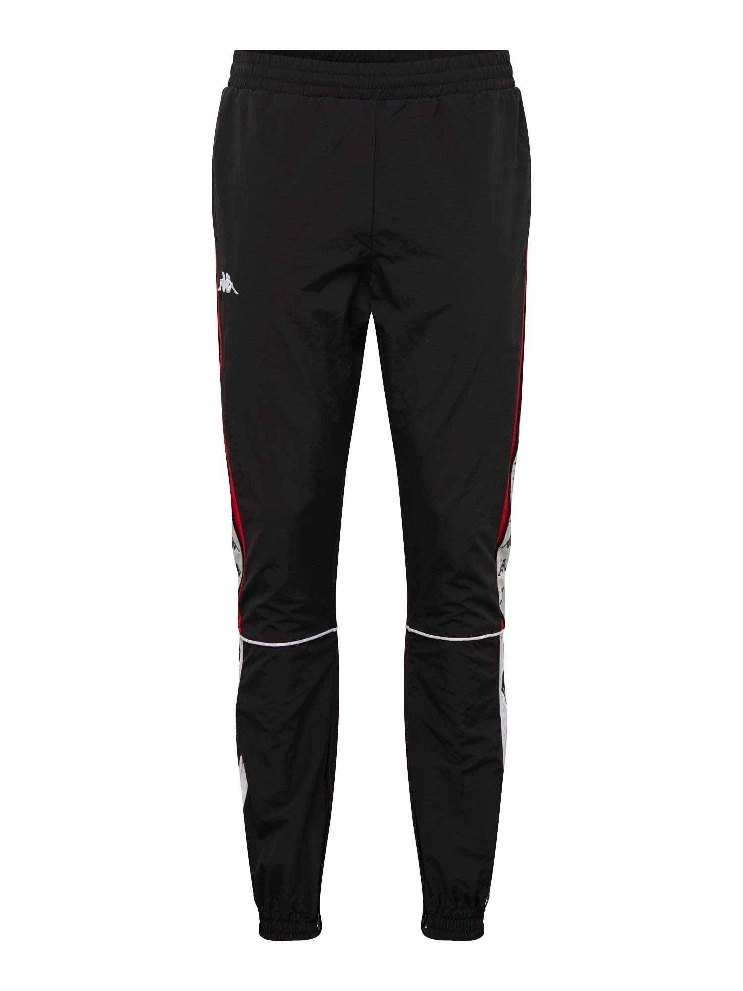 Kalhoty Erik červená černá bílá KAPPA