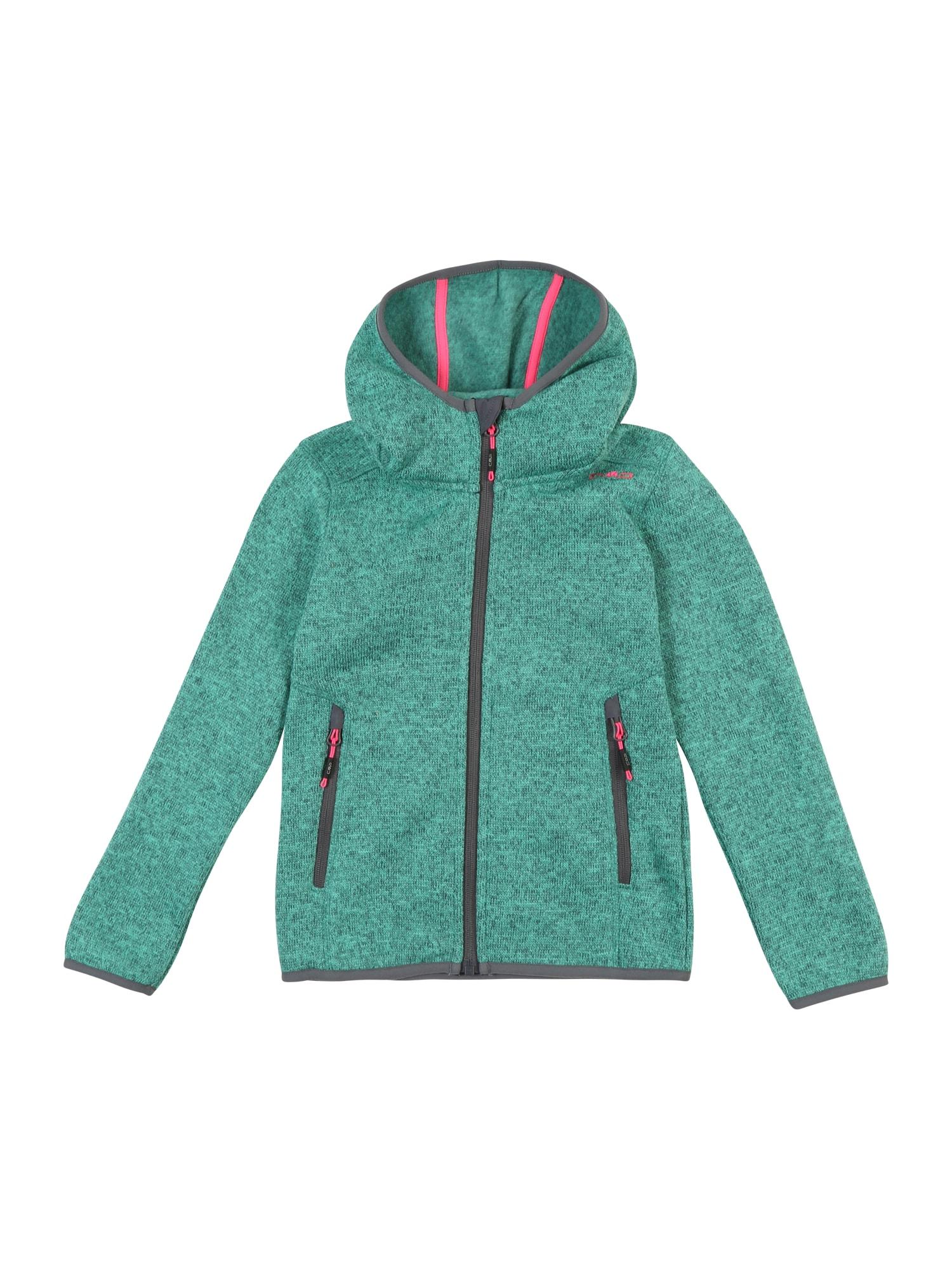 Funkční flísová bunda tmavě šedá zelená pink CMP