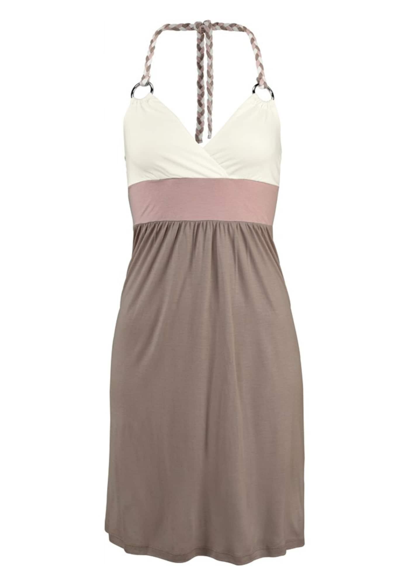Strandkleid mit Colour-Blocking | Bekleidung > Kleider > Strandkleider | Creme - Taupe | BEACH TIME