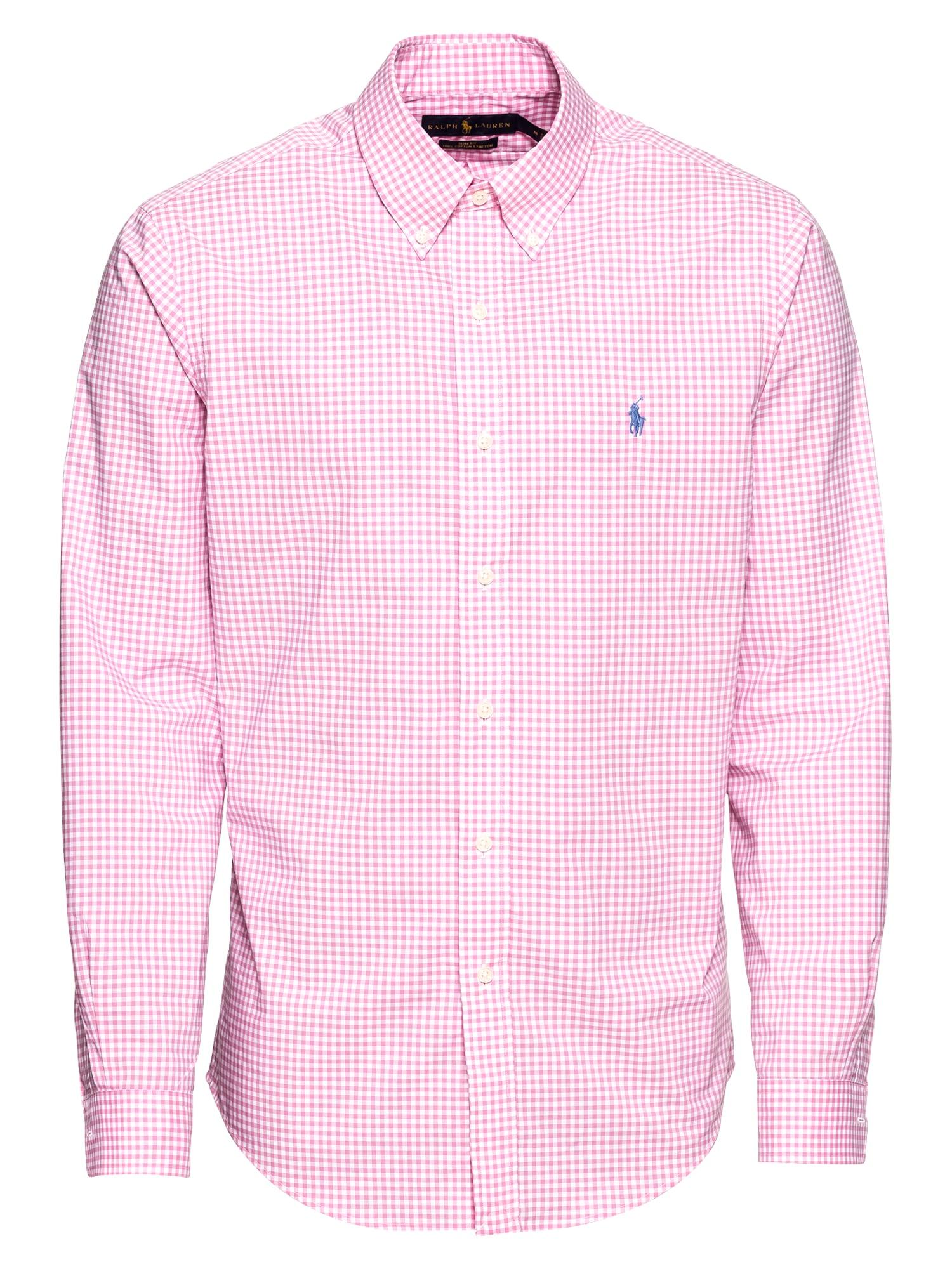 Košile SL BD PPCSPT-LONG SLEEVE-SPORT SHIRT pink POLO RALPH LAUREN