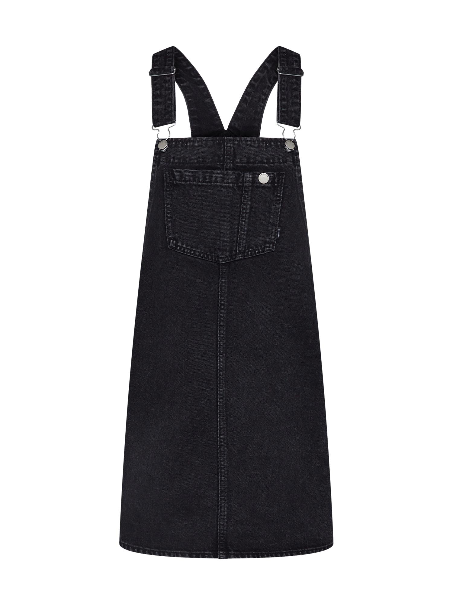 Laclová sukně Eir Dungaree černá džínovina Dr. Denim