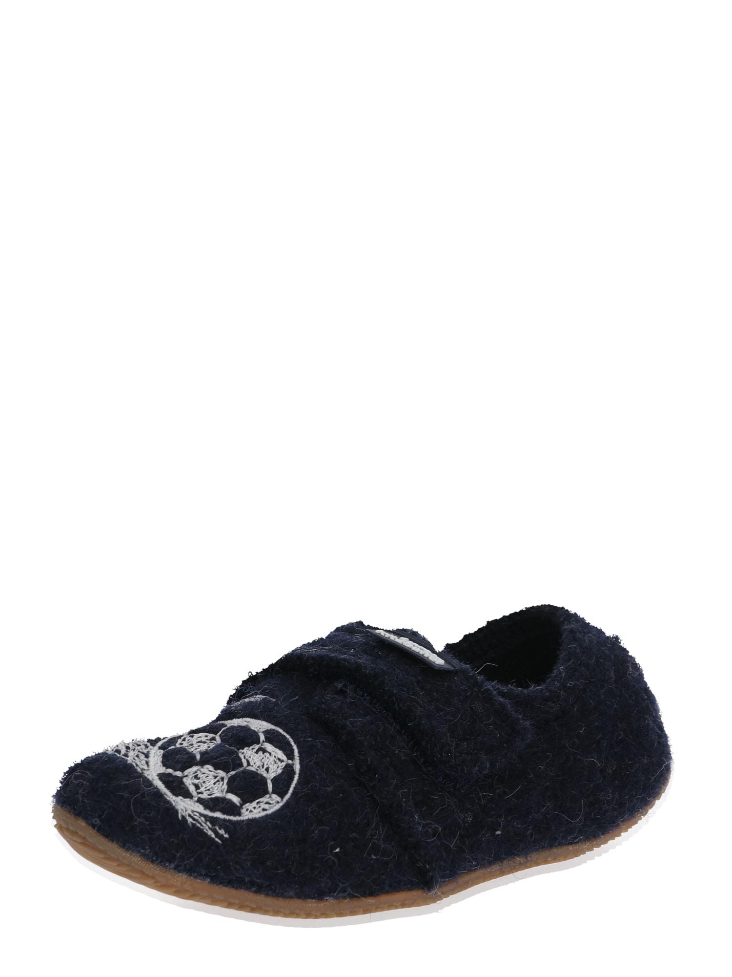 Pantofle 3648-590 modrá Living Kitzbühel