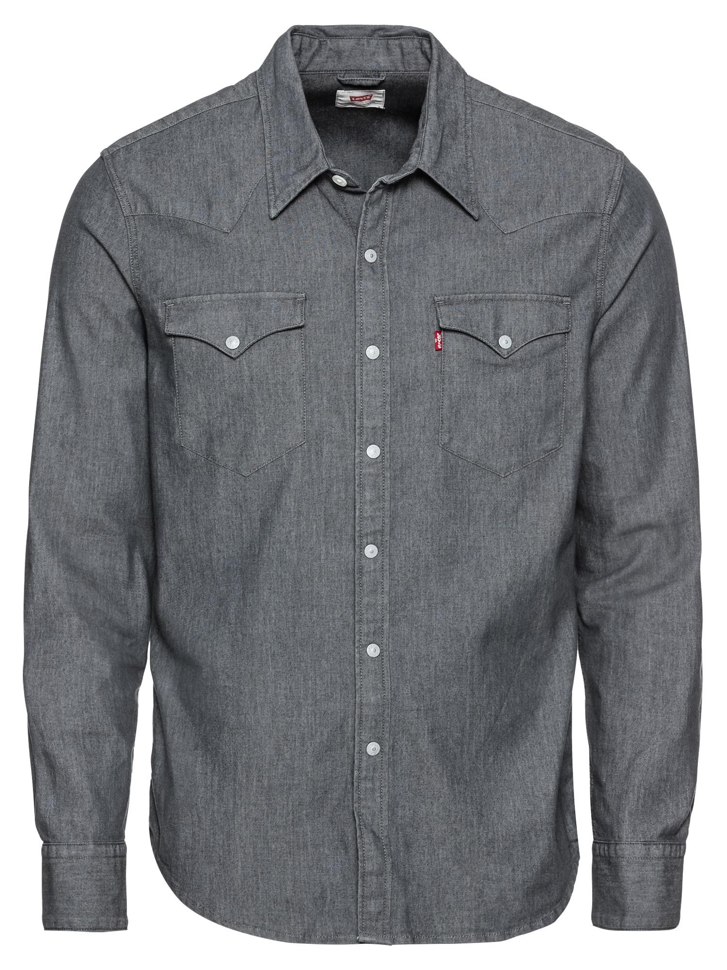 LEVI'S Heren Overhemd Barstow Western grey denim