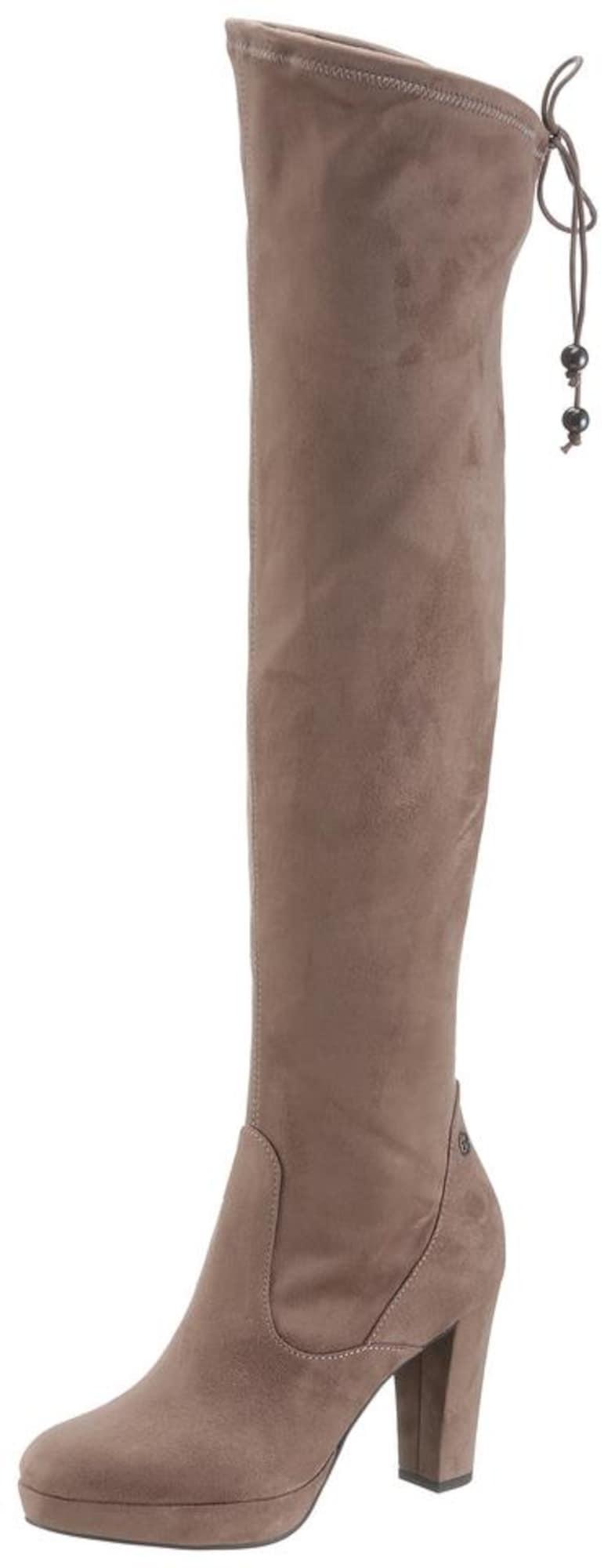 Kozačky nad kolena béžová TAMARIS
