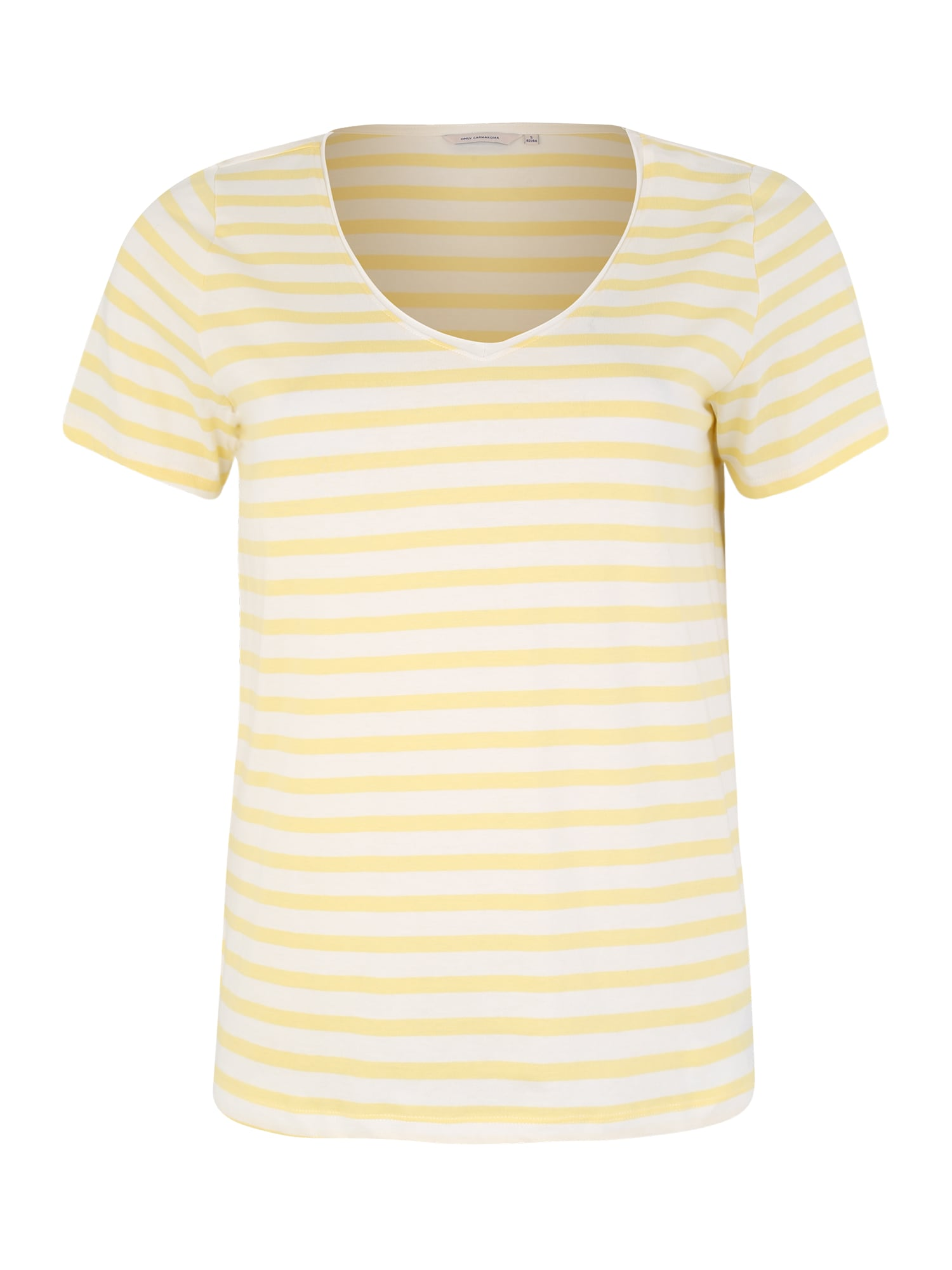 Tričko žlutá bílá ONLY Carmakoma