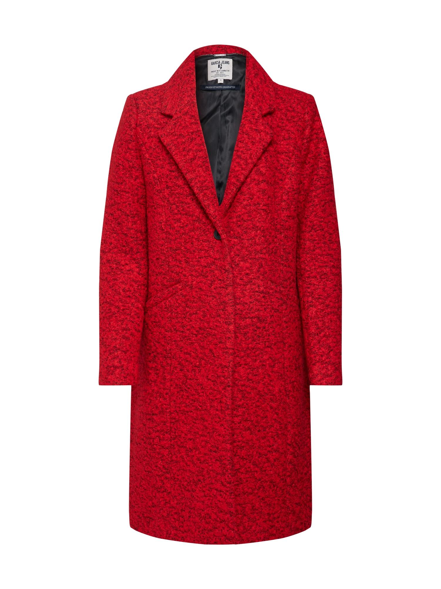 Zimní kabát červená černá GARCIA